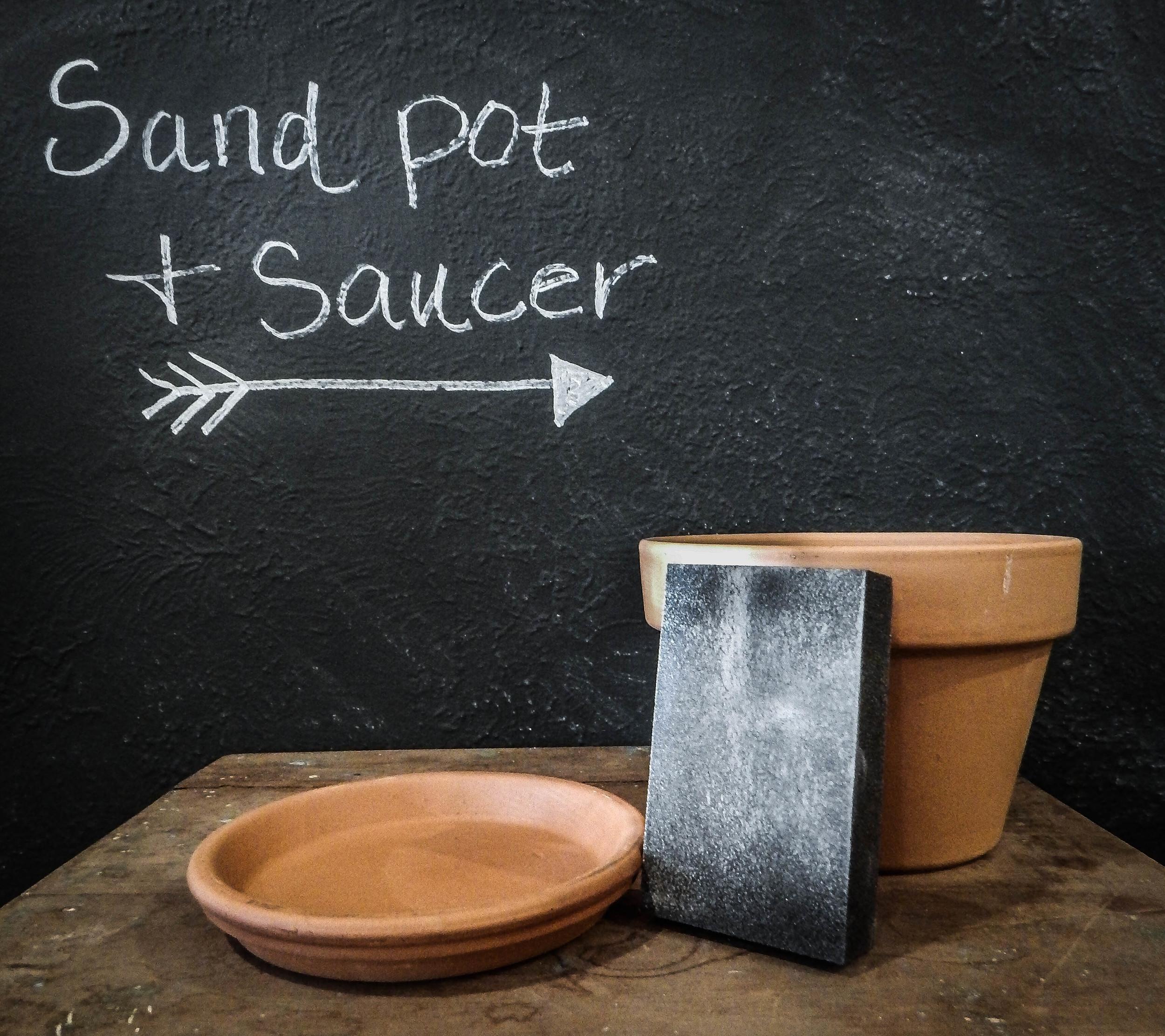 terra cotta pot DIY and saucer