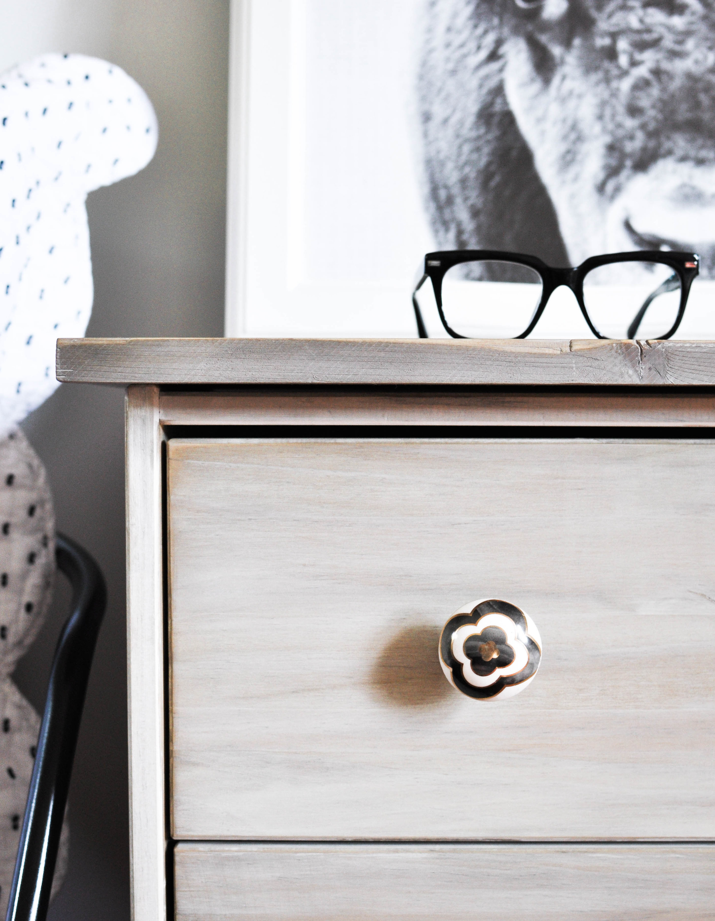 wooden nightstand scandinavian look
