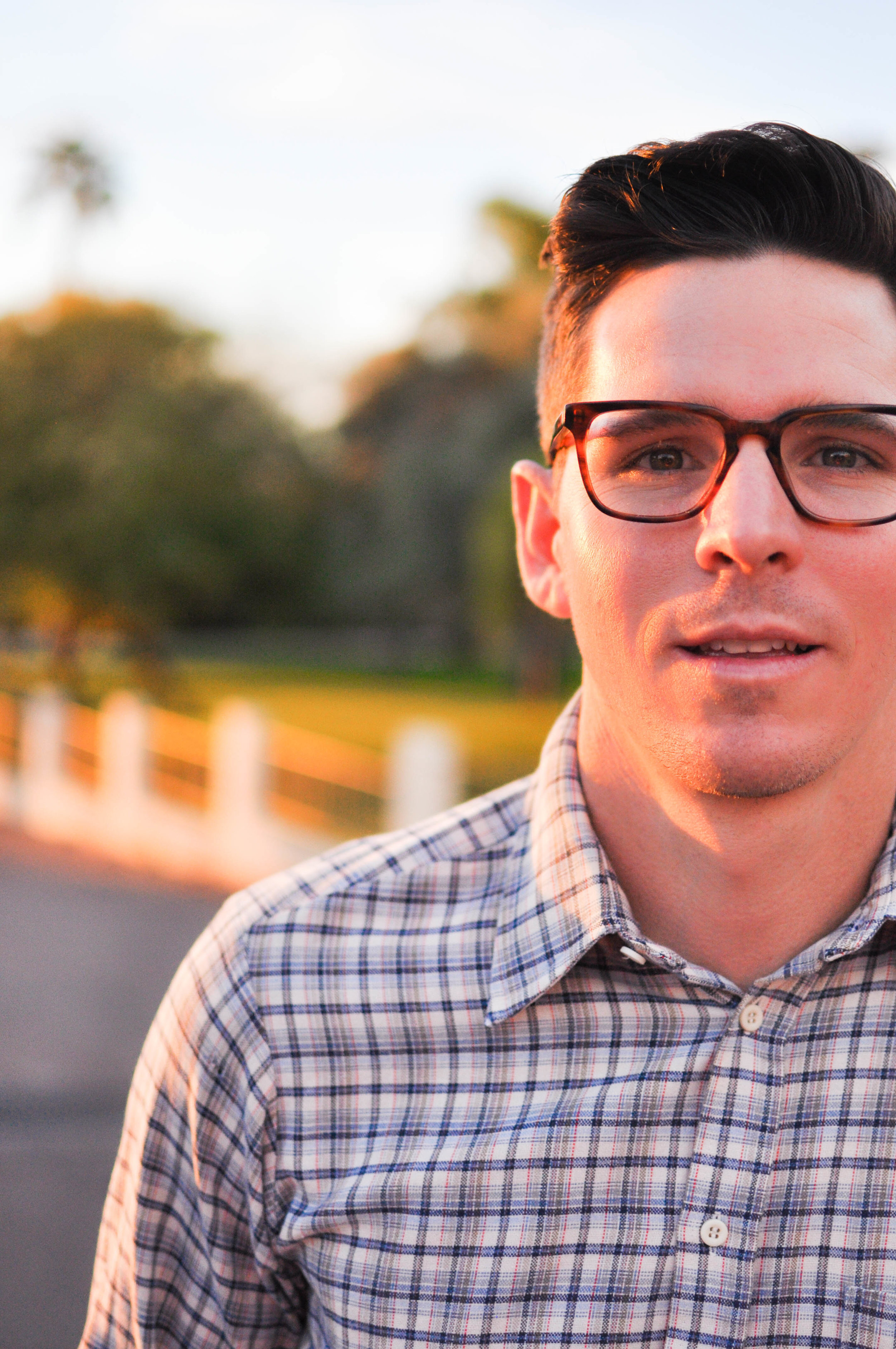 Man in glasses and plaid shirt