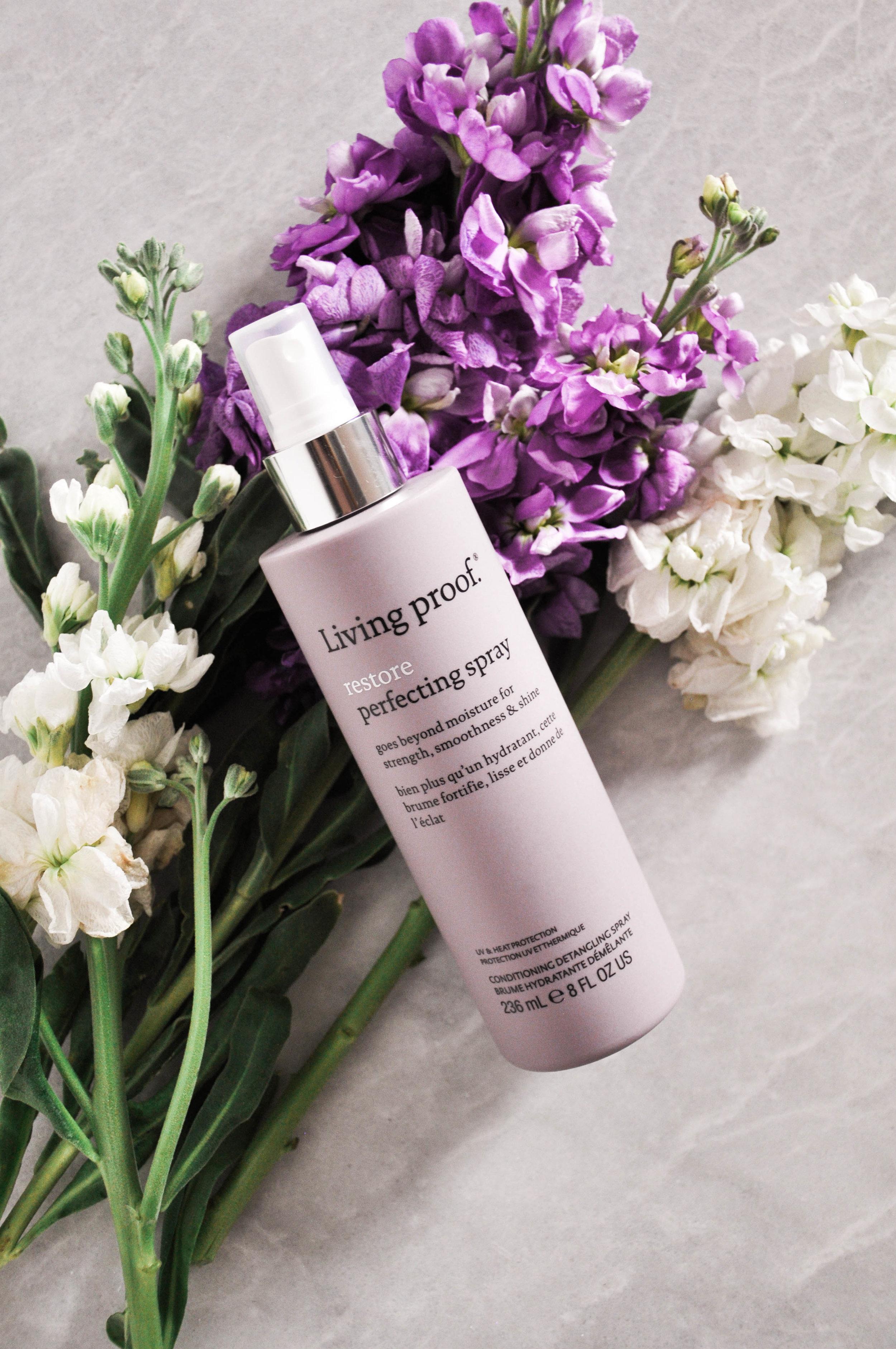 living proof hair care spray bottle