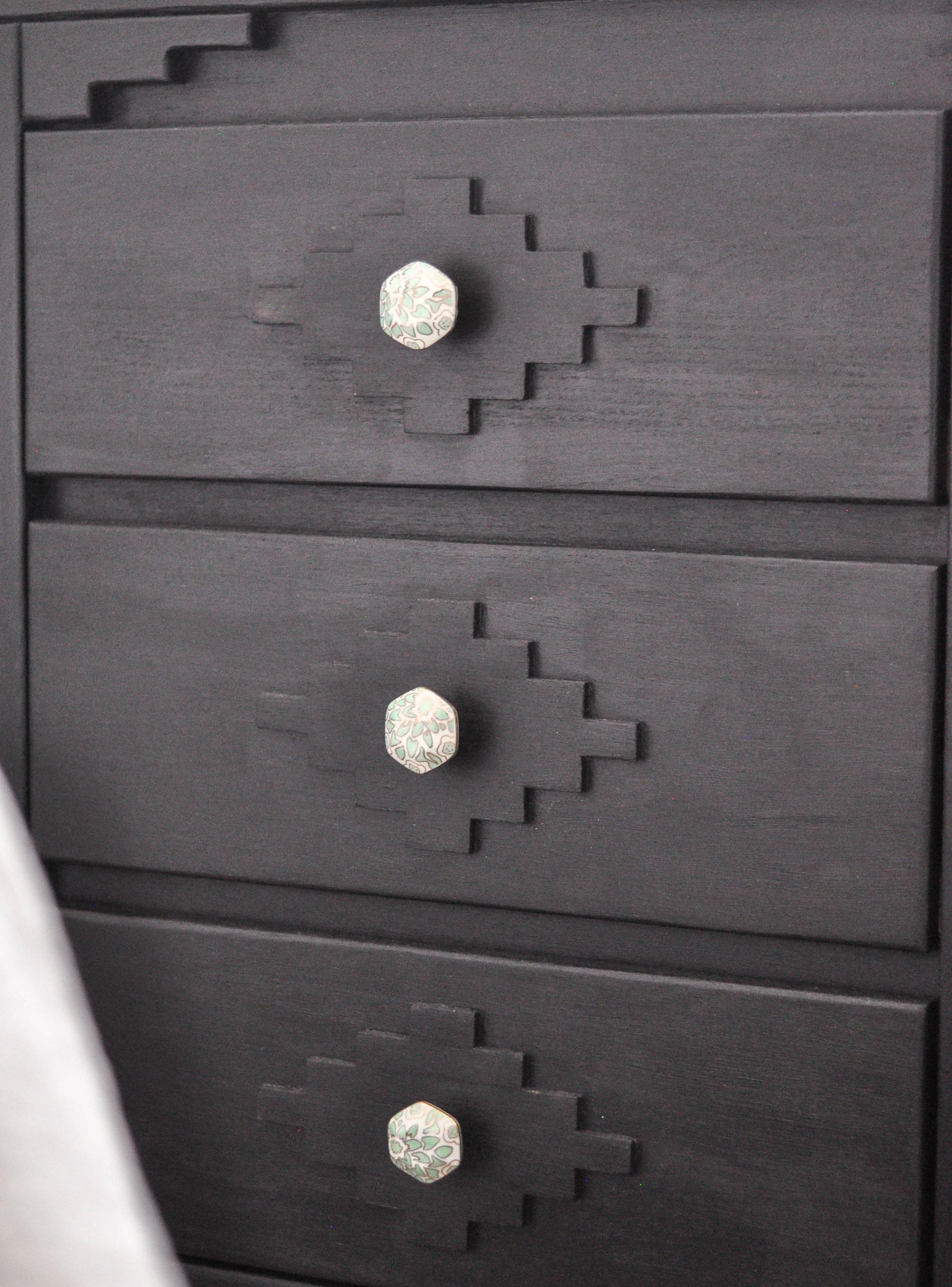 DIY black wooden dresser