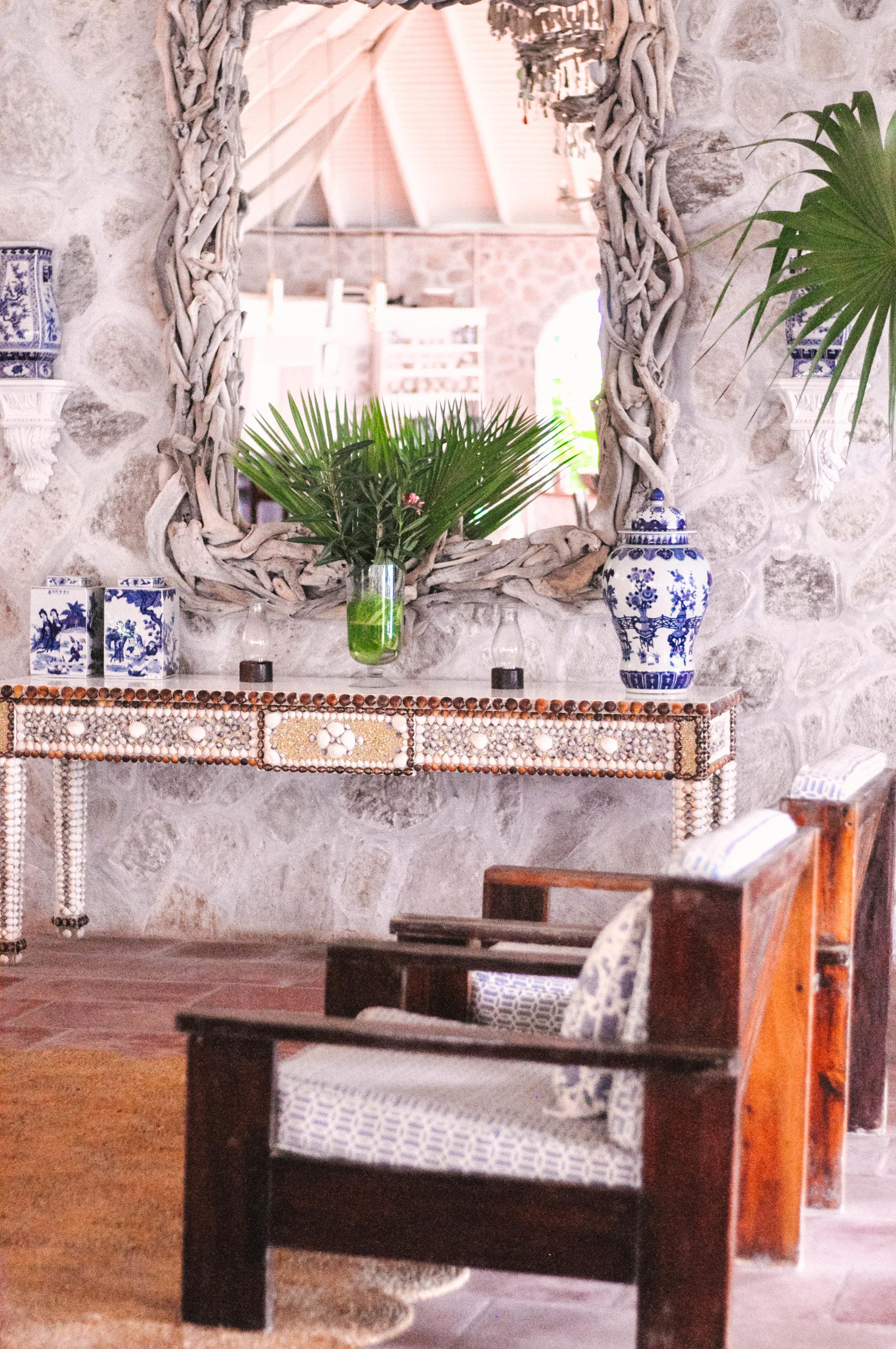 Sugar Reef Bequia hotel decor
