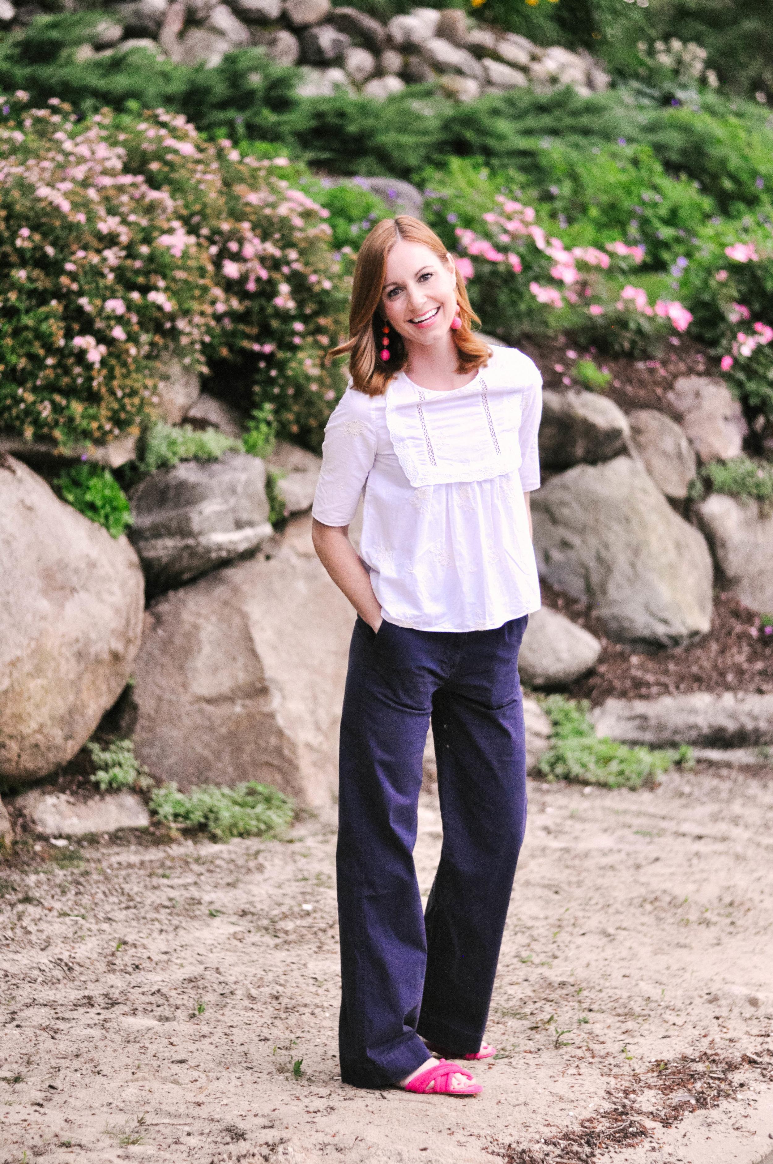 Summer Outfit: Zara Top, J.Crew Pants