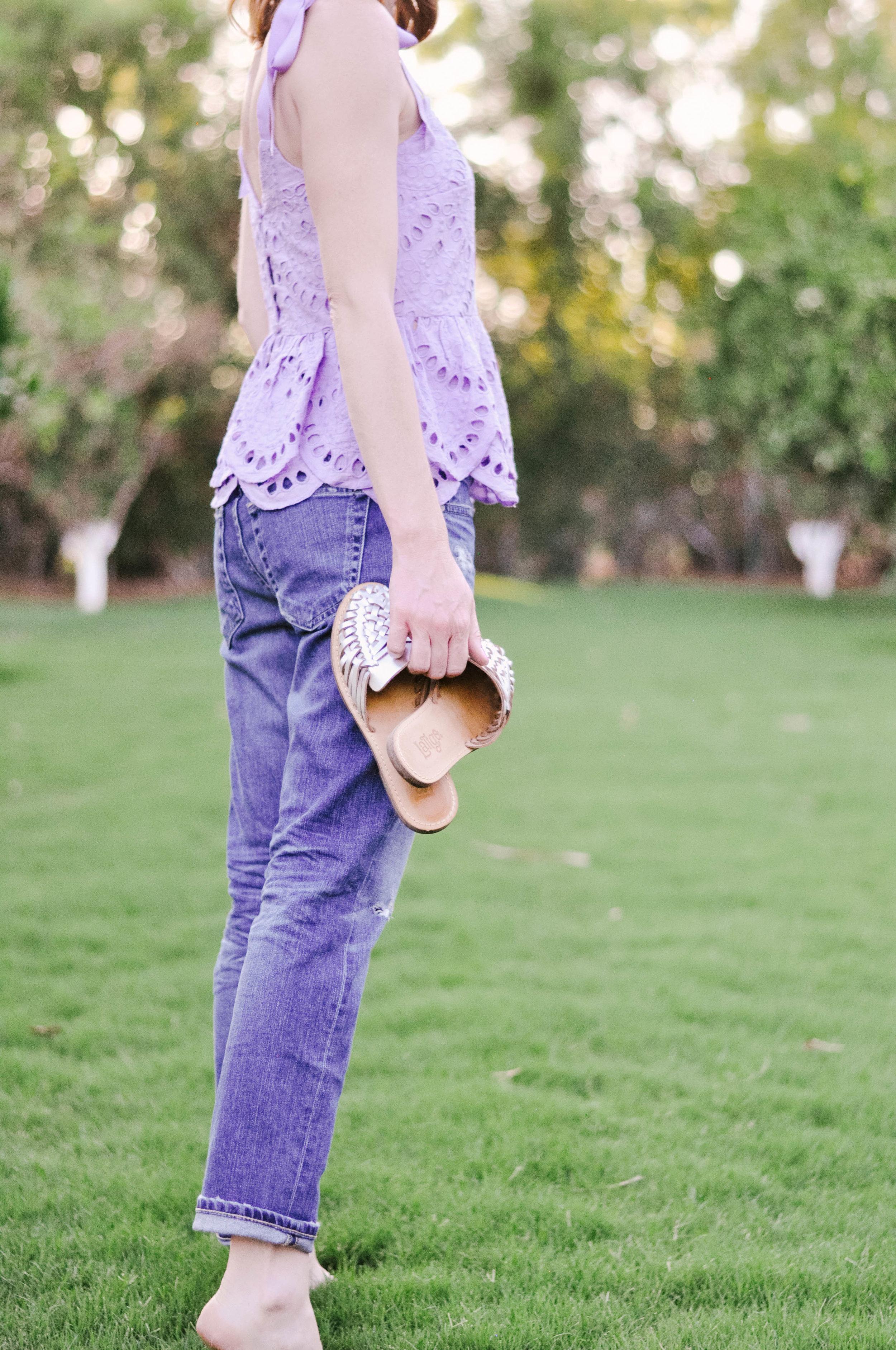 Latigo silver hibiscus shoes