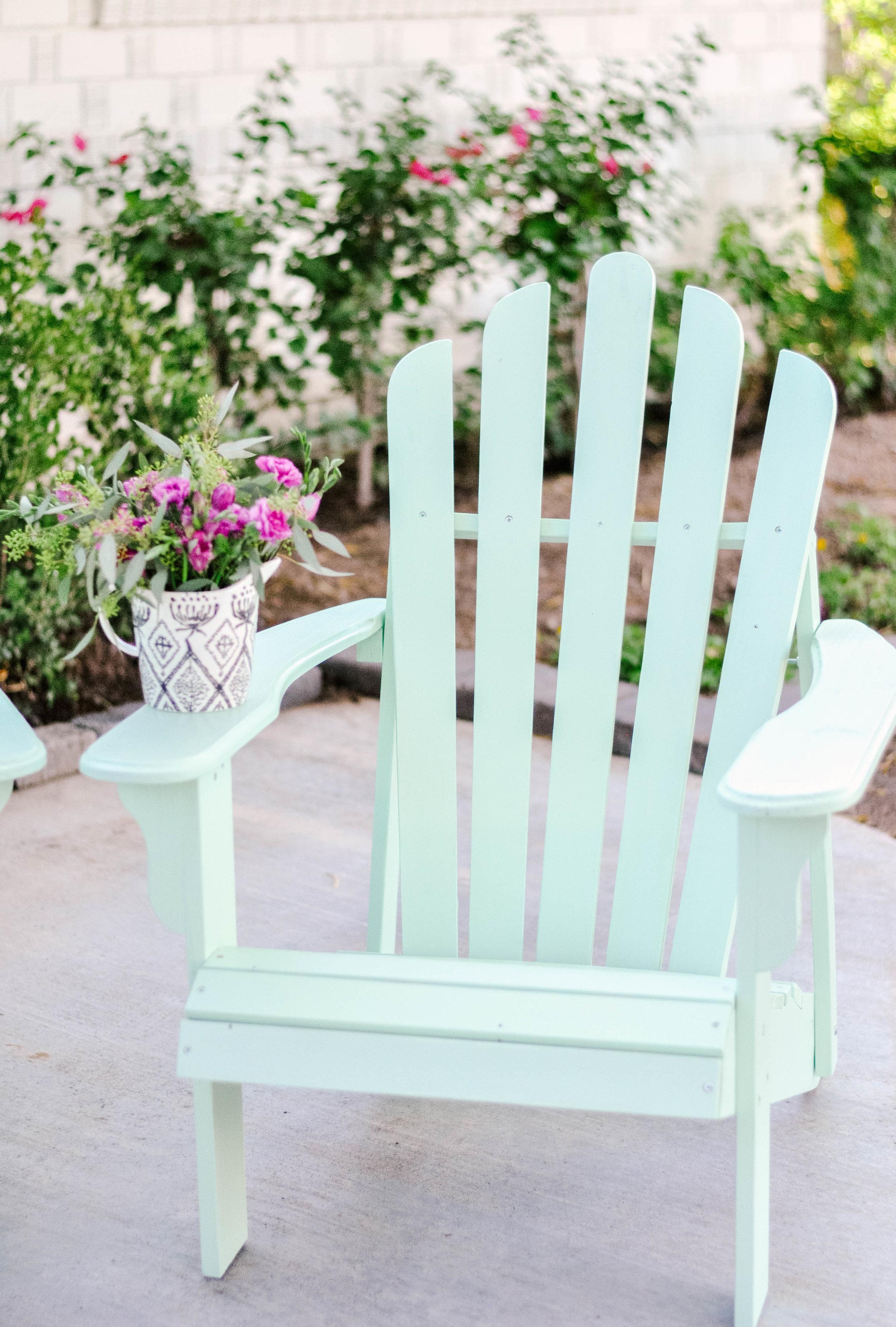 DIY Painted Adirondack Chairs