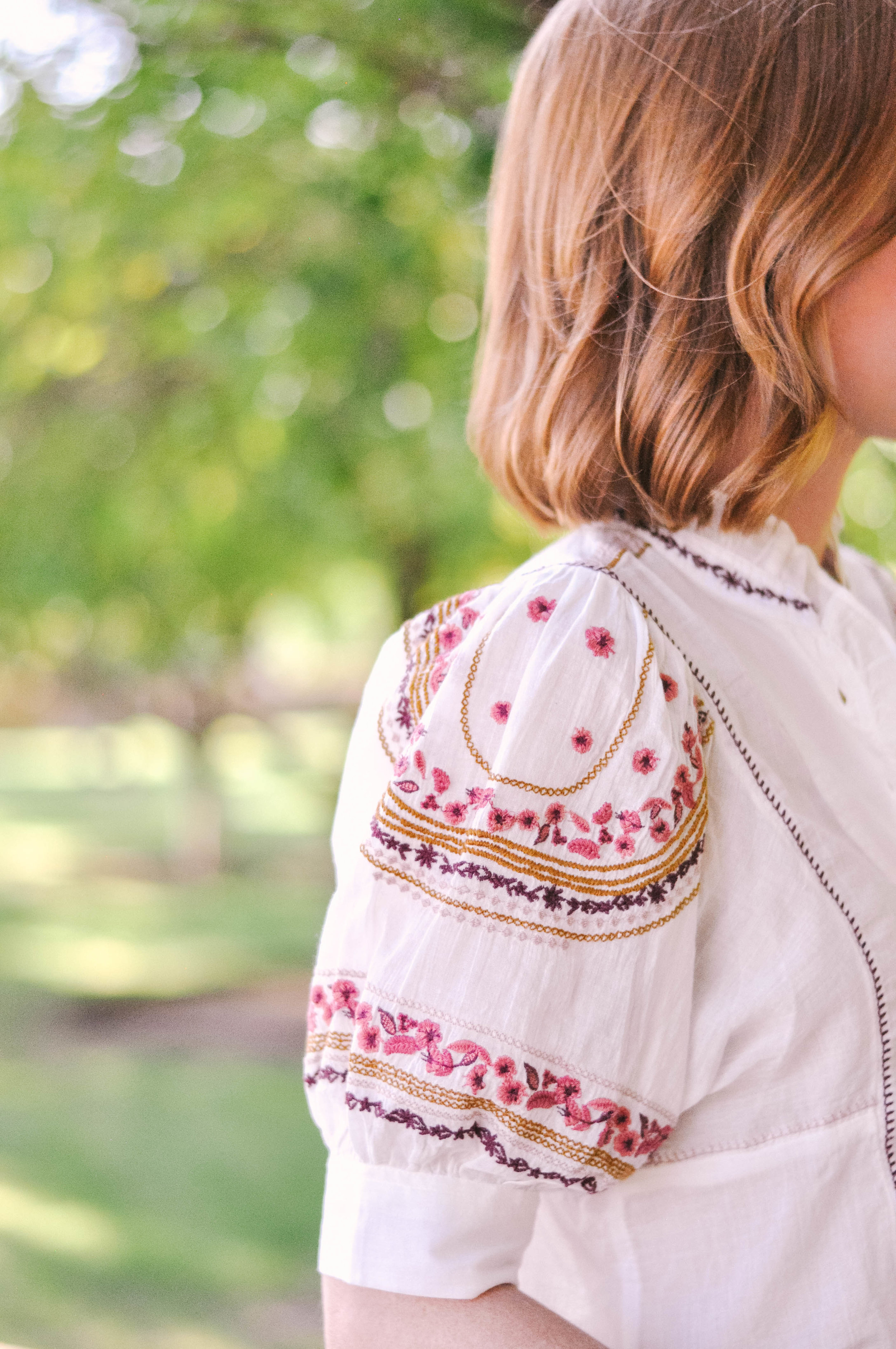 Embroidered Anthropologie Top