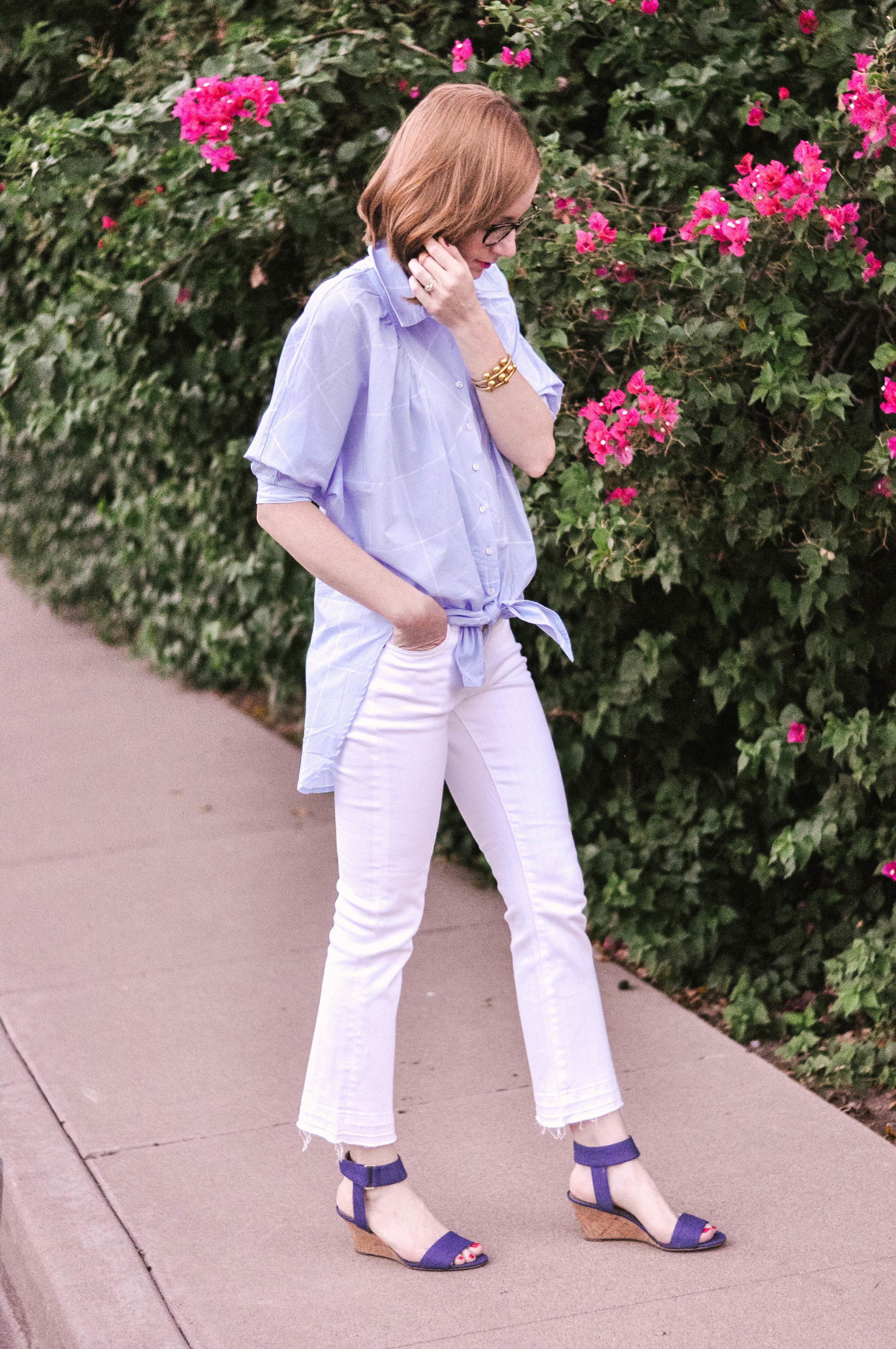 Bootcut Crop Jeans