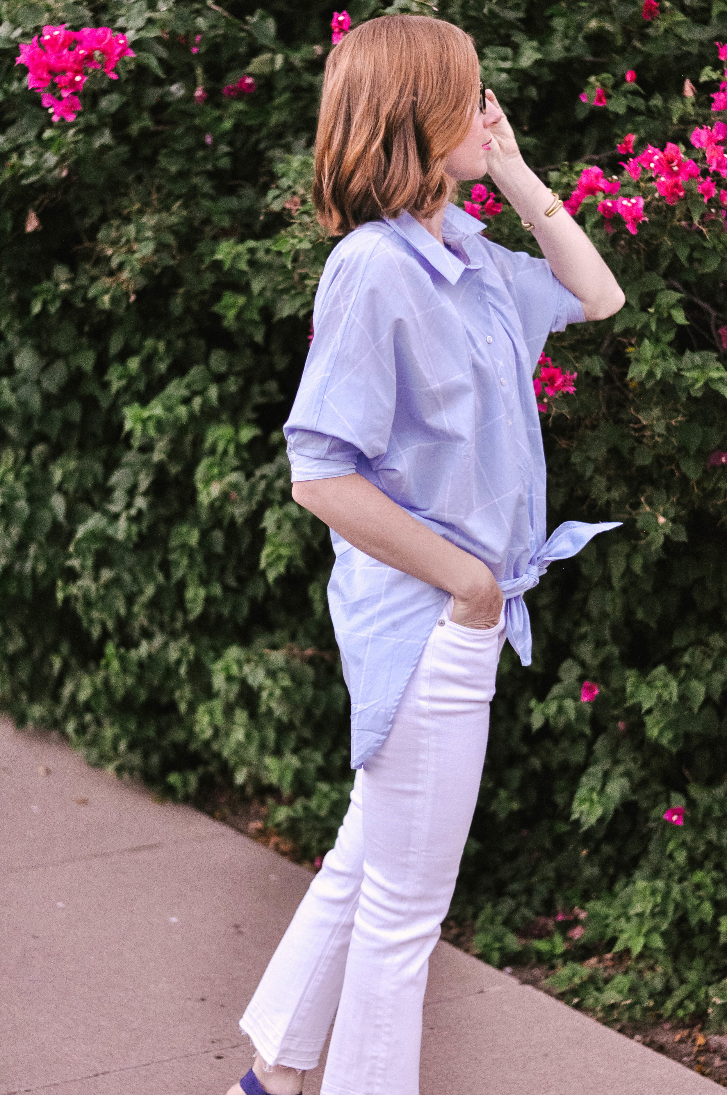 Fall Anthropologie Shirt and Jeans