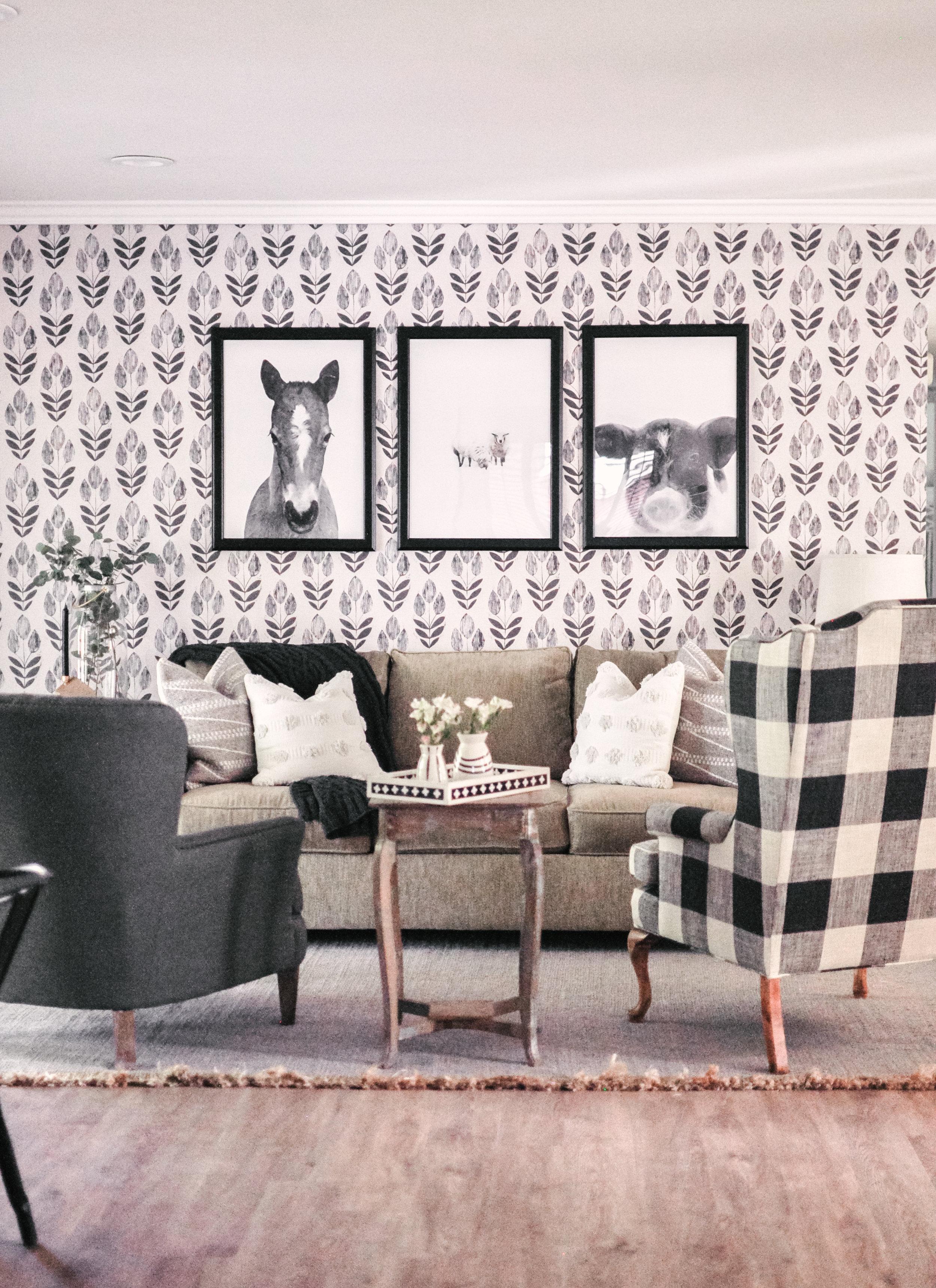 Black and White Scandinavian Farmhouse Decor