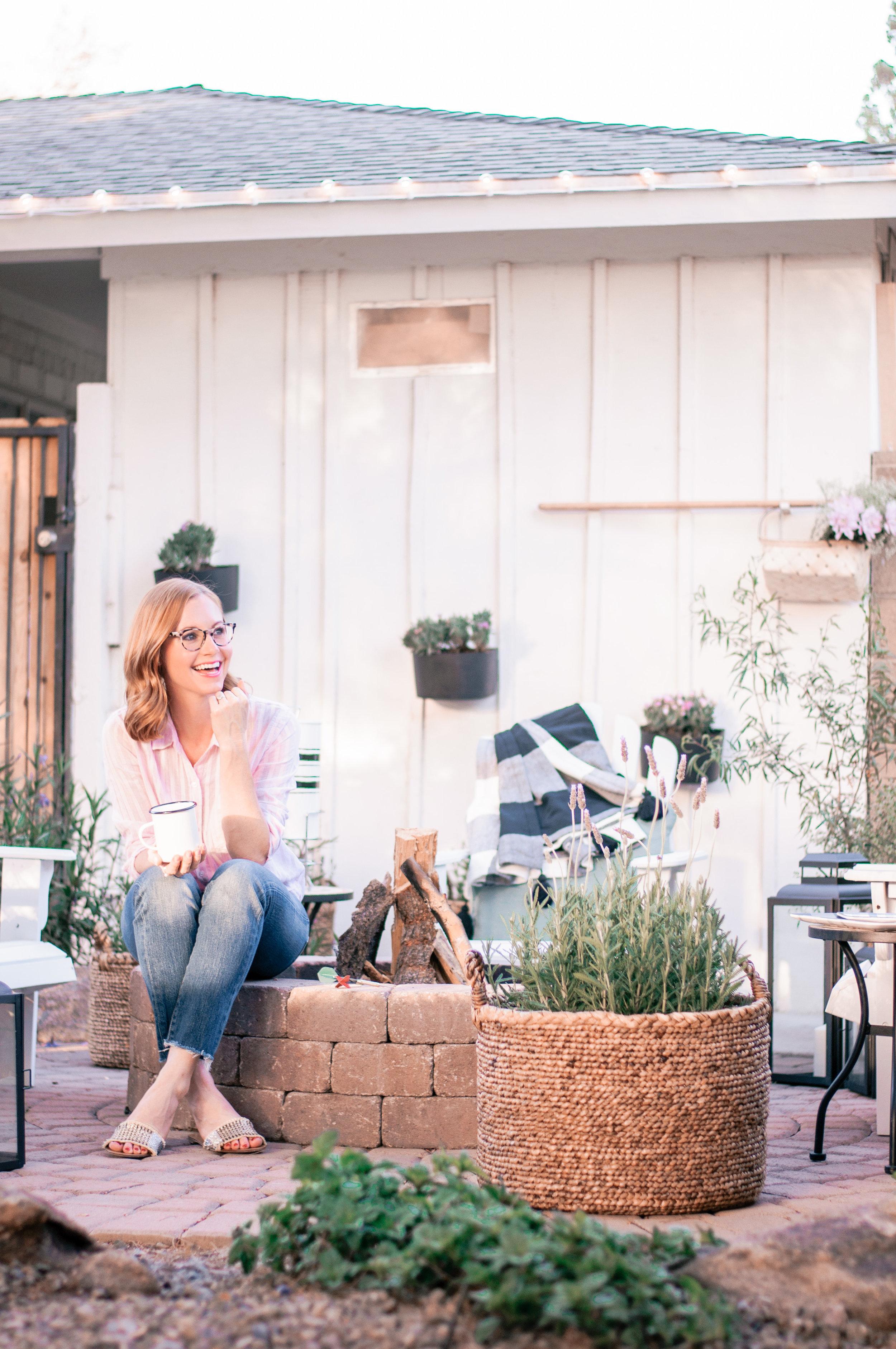 DIY Backyard Brick Fireplace Design Ideas