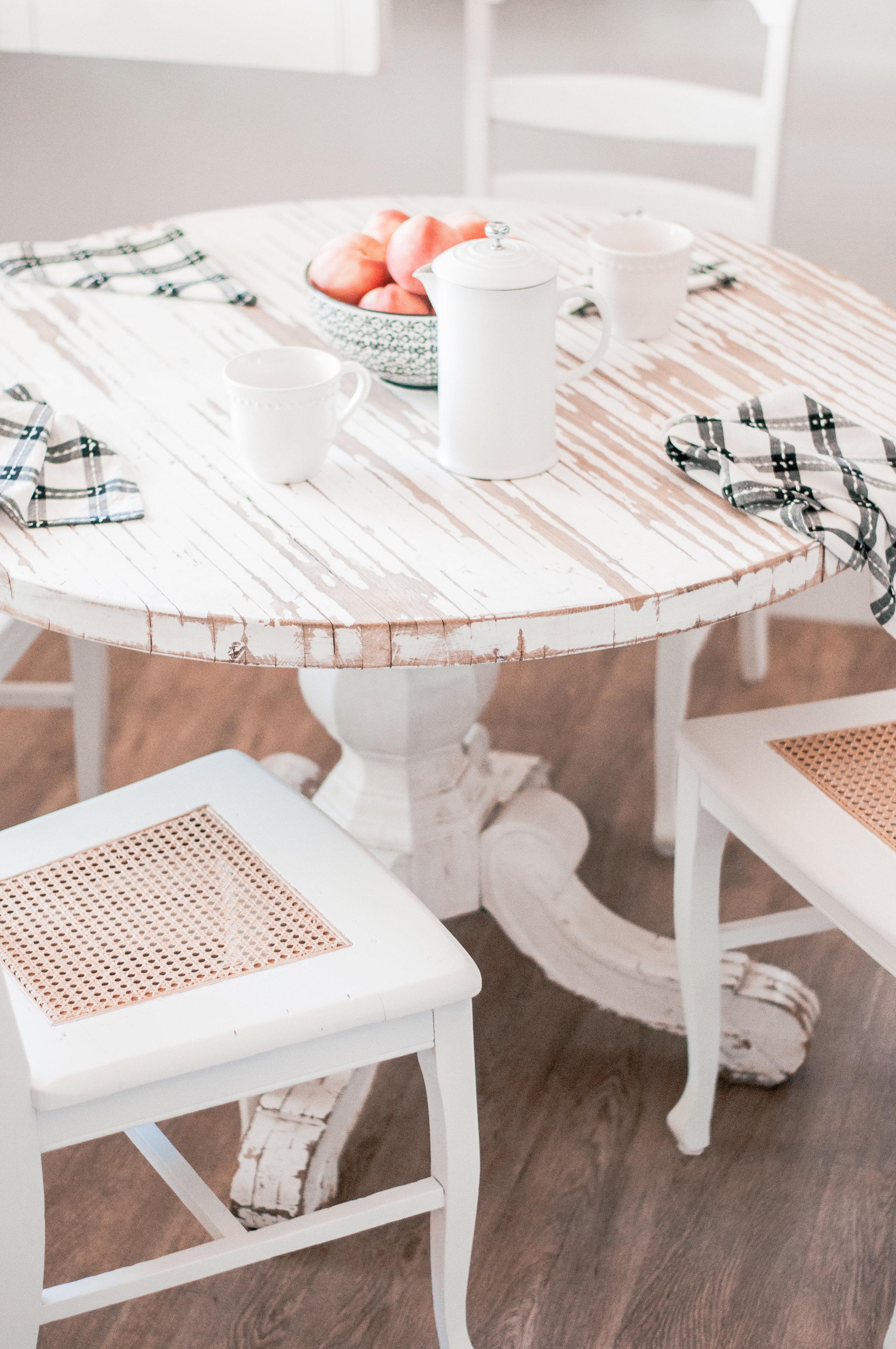 DIY Painted White Farmhouse Chair