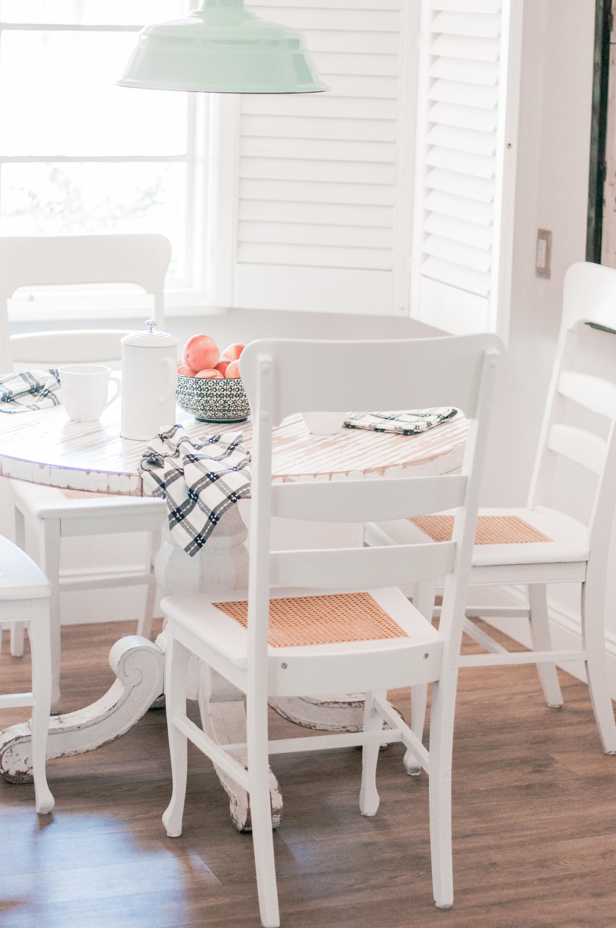 Farmhouse Wood Chair Repurposed