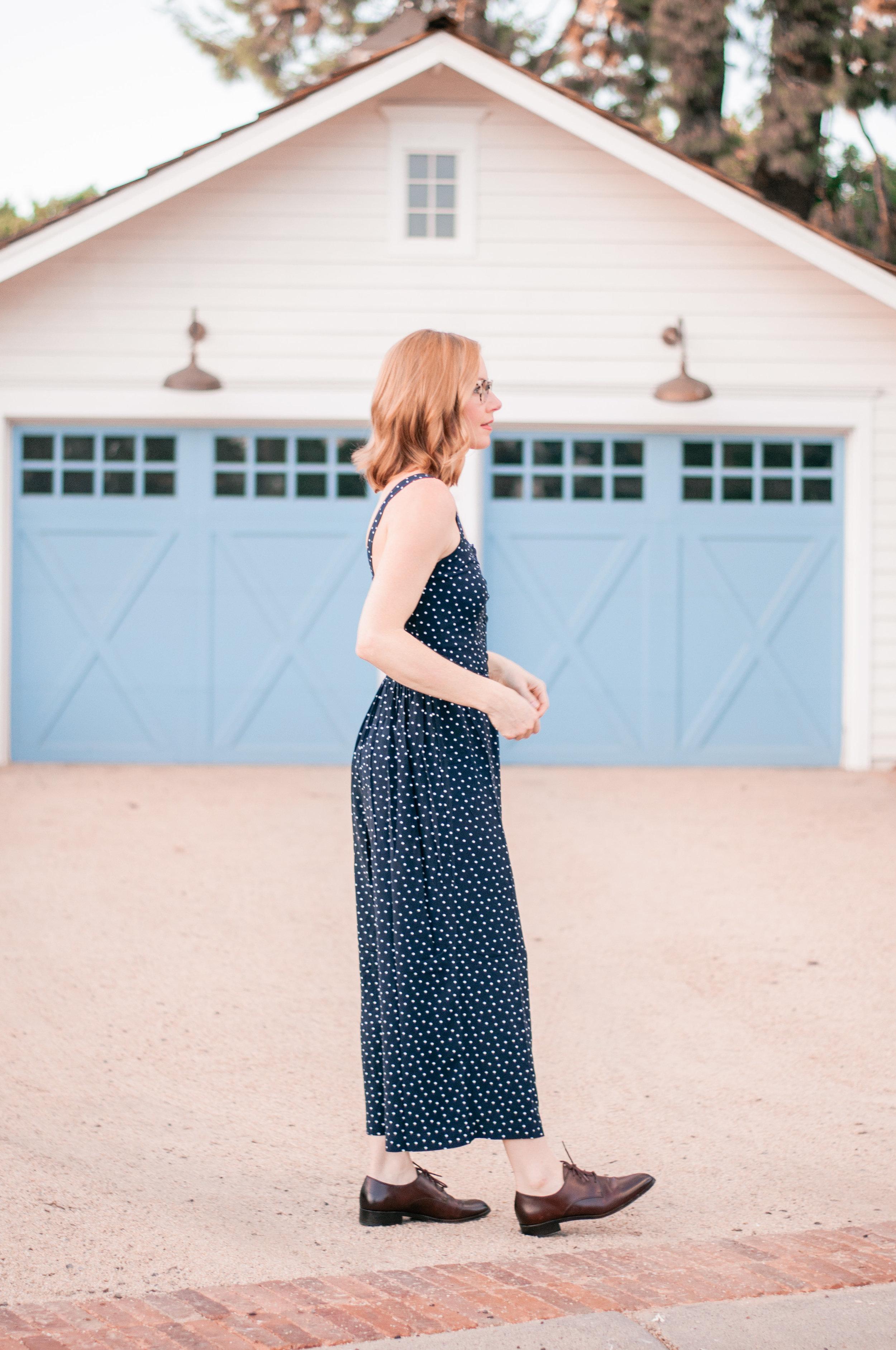 Cute Navy Blue Jumpsuit for Women