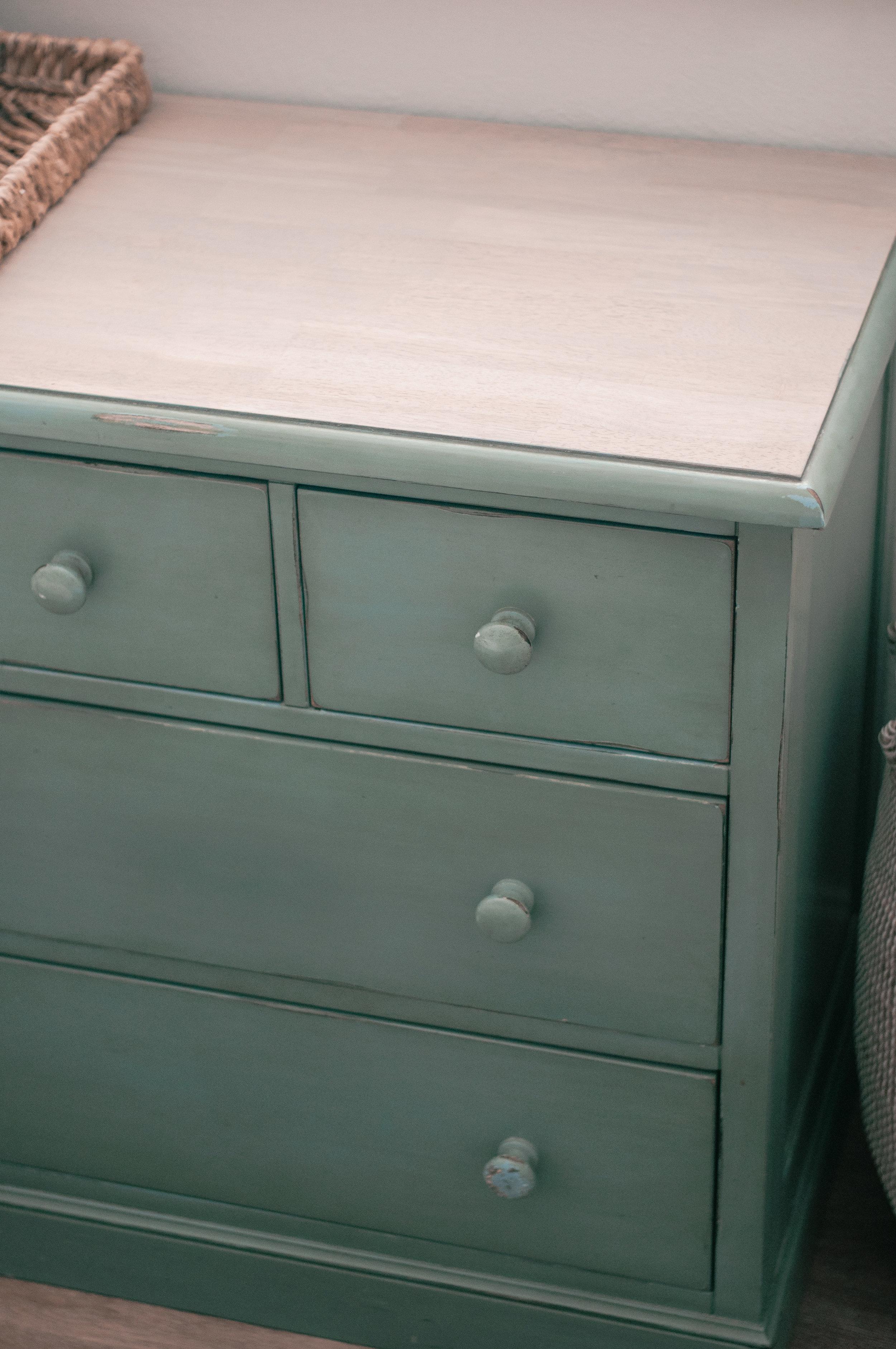 Refinished wood dresser