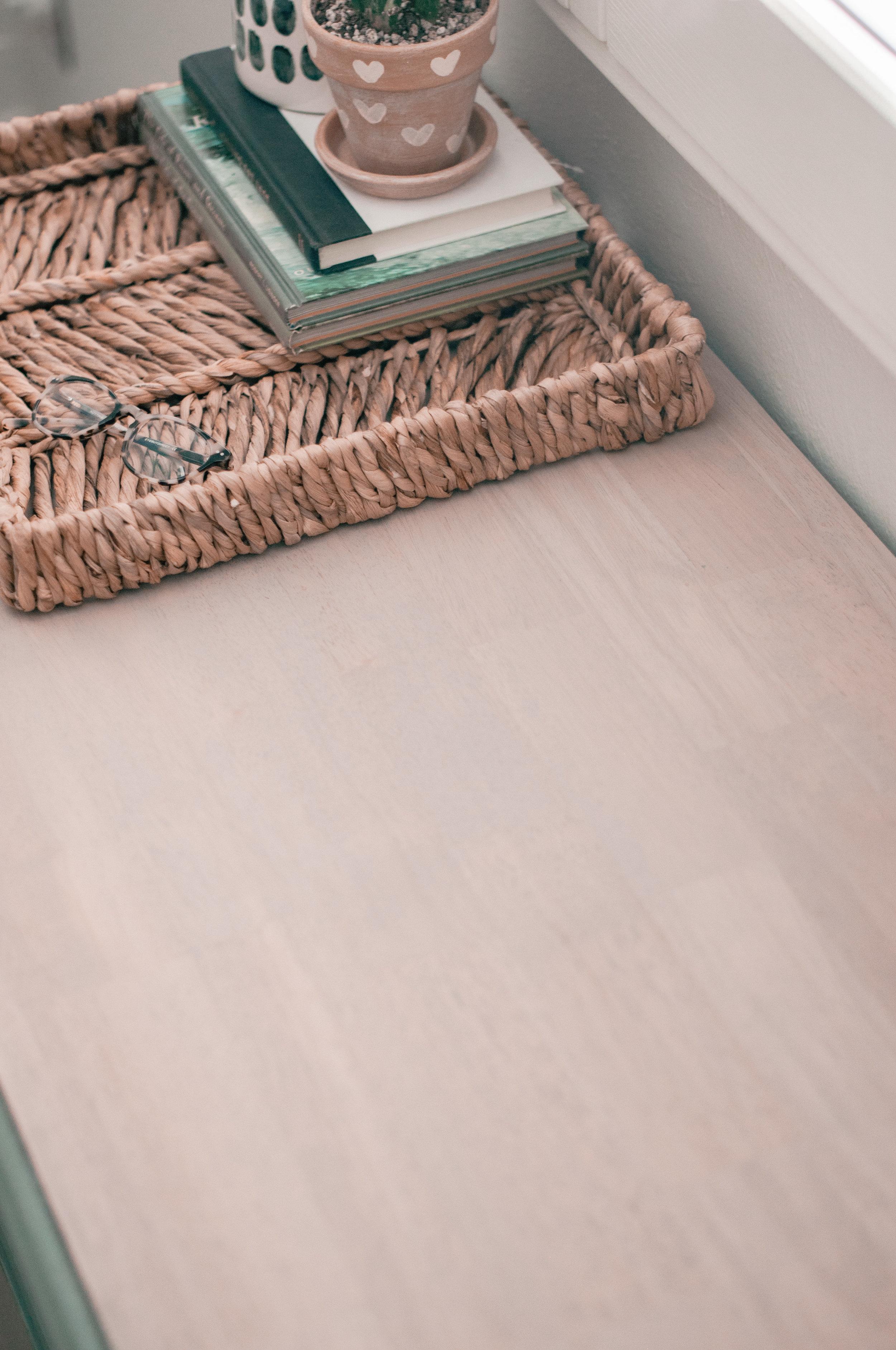 Rustic bedroom dresser makeover