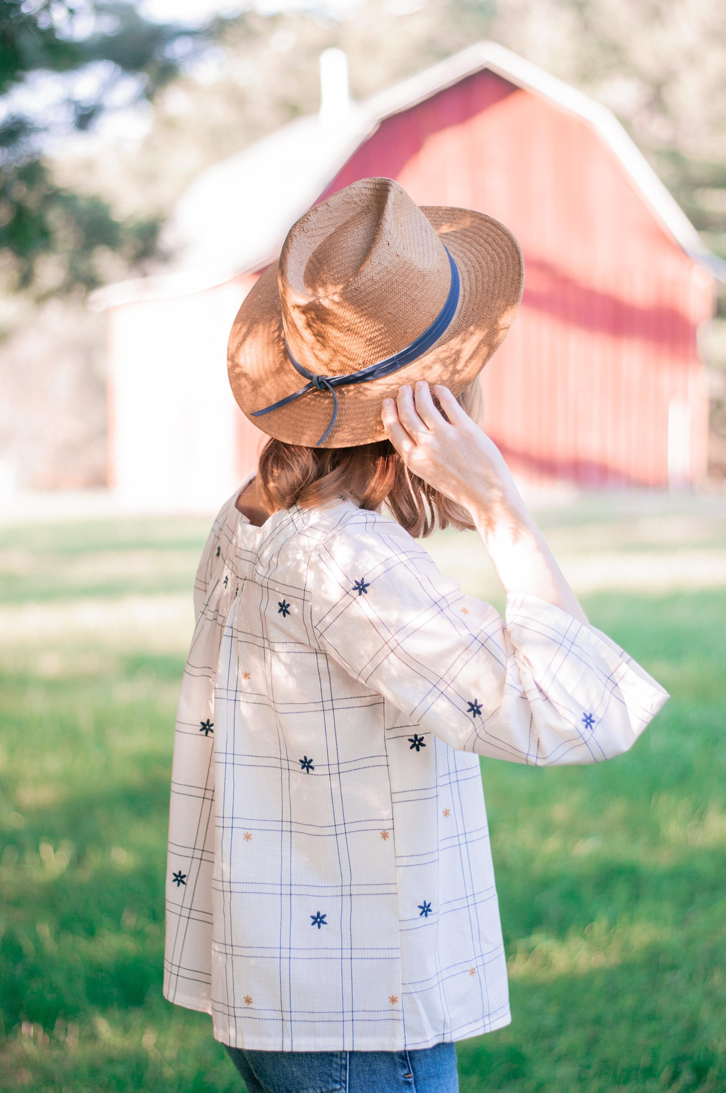 Cute women's straw Panama hat