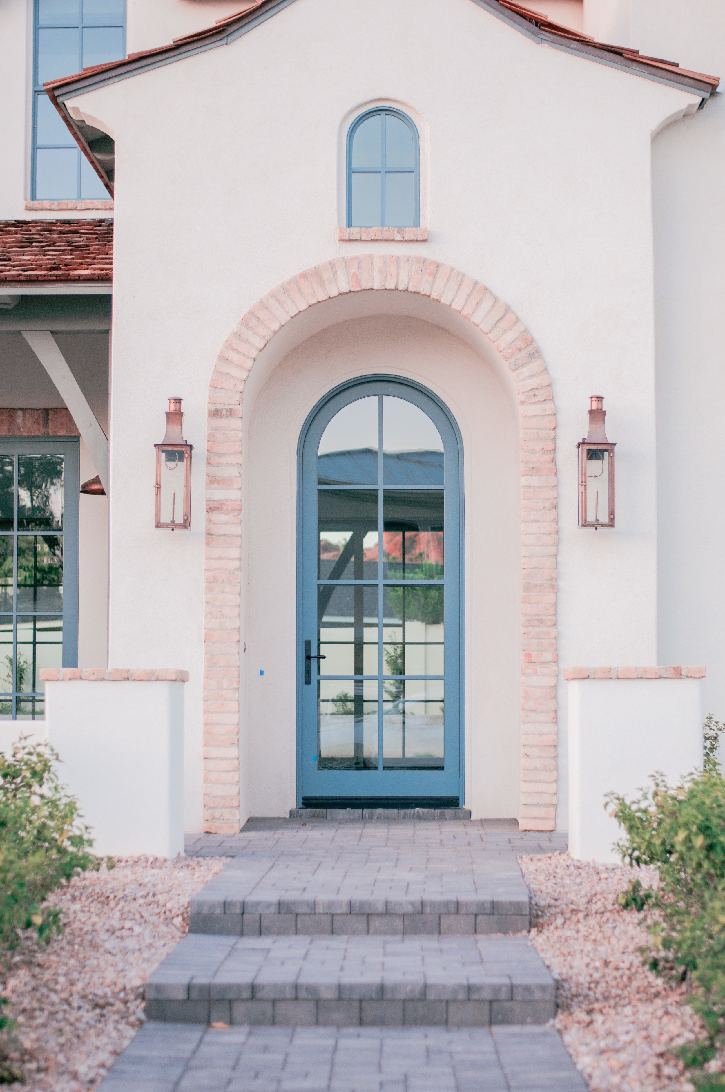 A charming, colorful front door in Arcadia, Phoenix, Arizona
