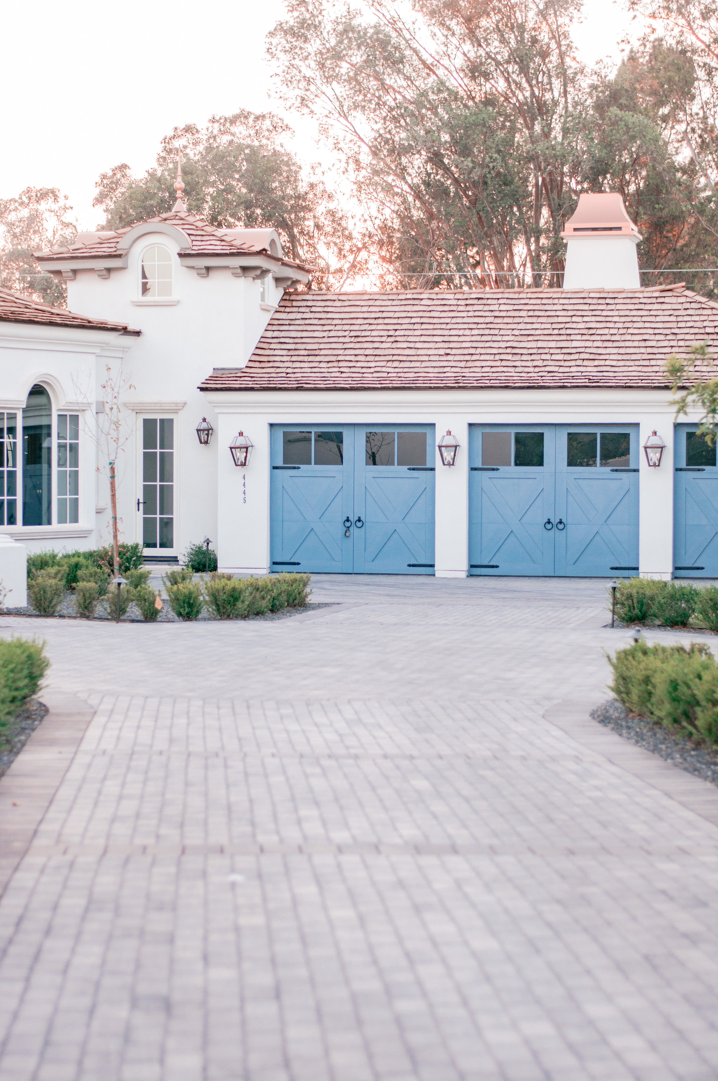 Colorful garage doors in Arcadia, Phoenix, Arizona