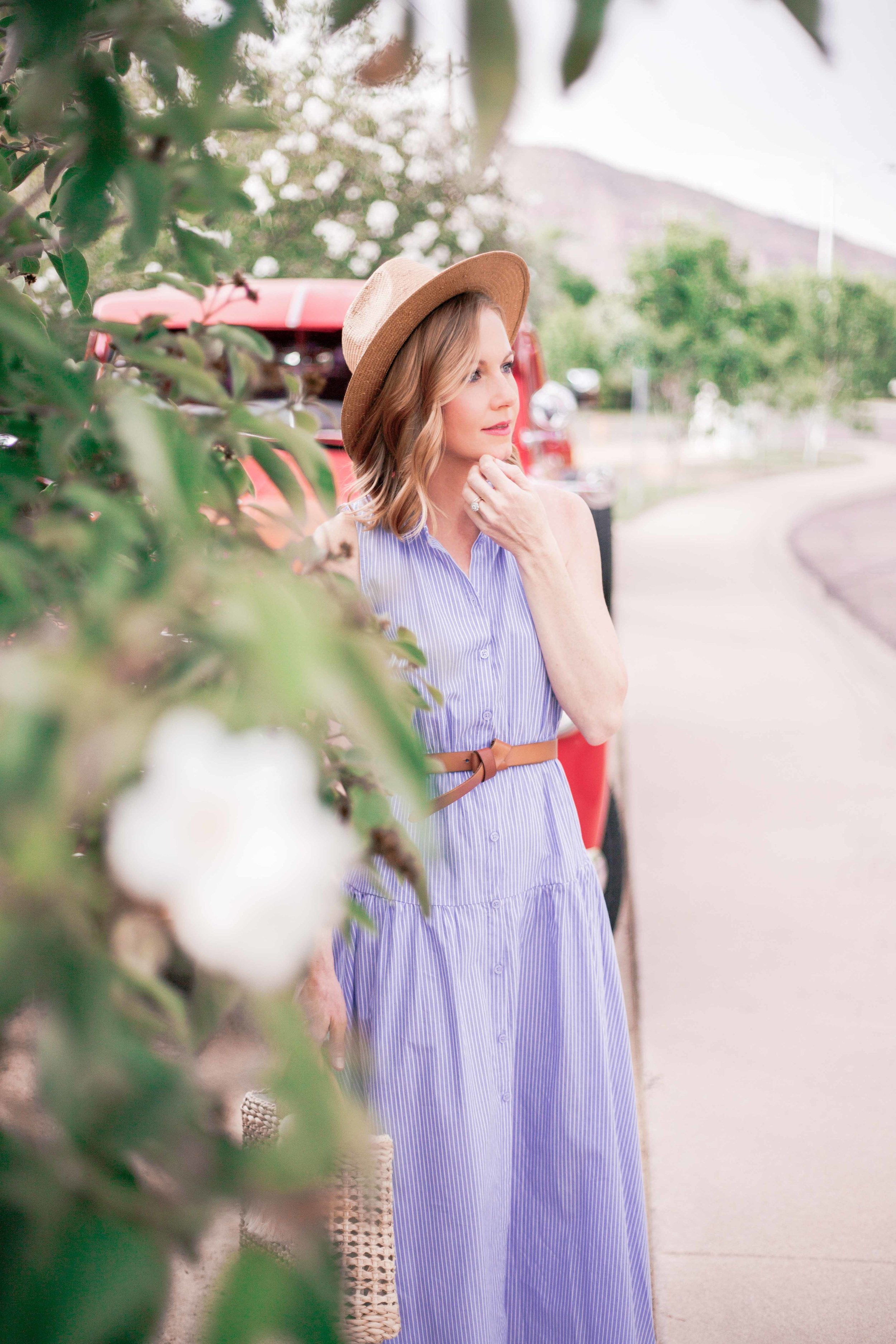 Blue Summer Midi Dress