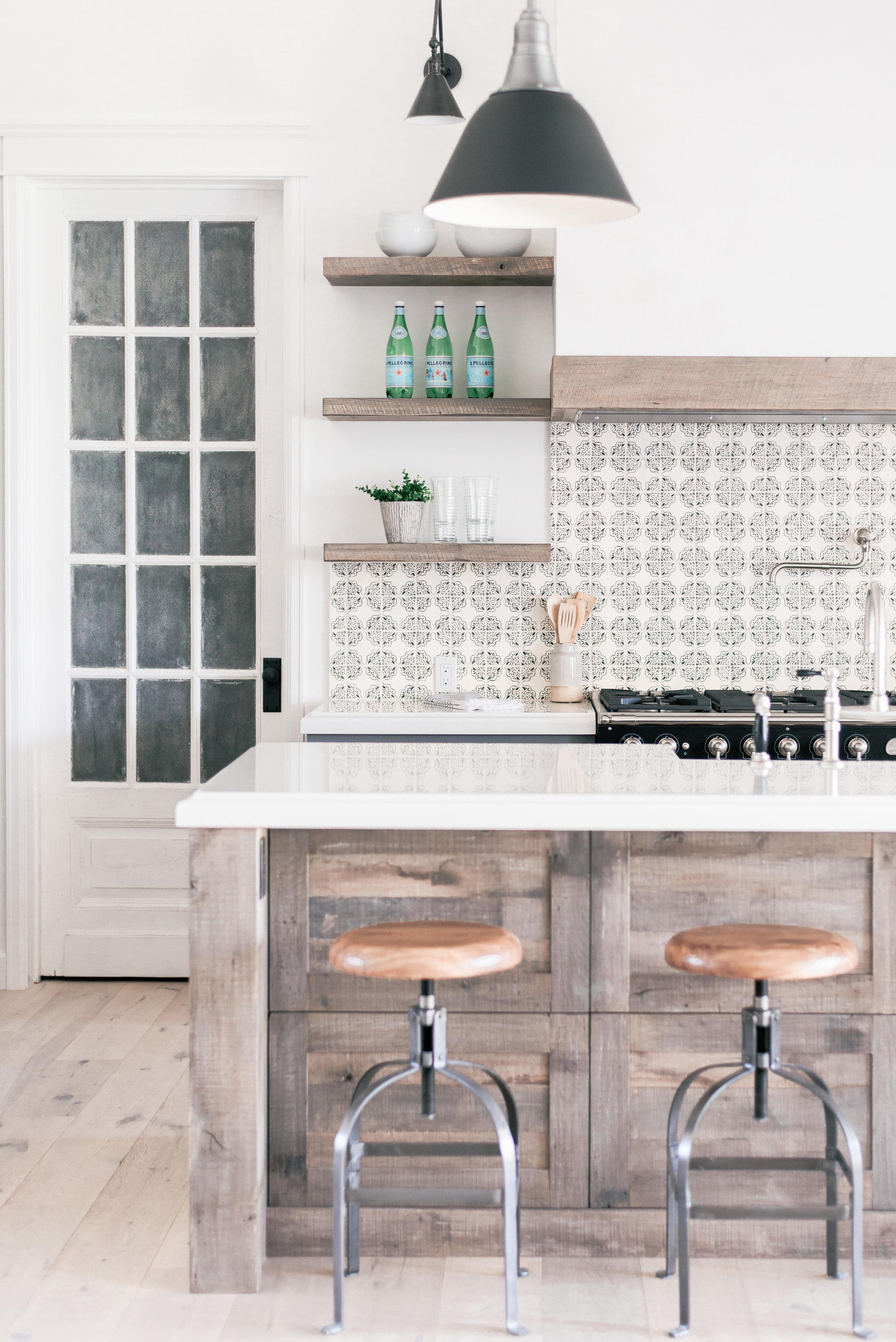 White Country Cottage Kitchen Design