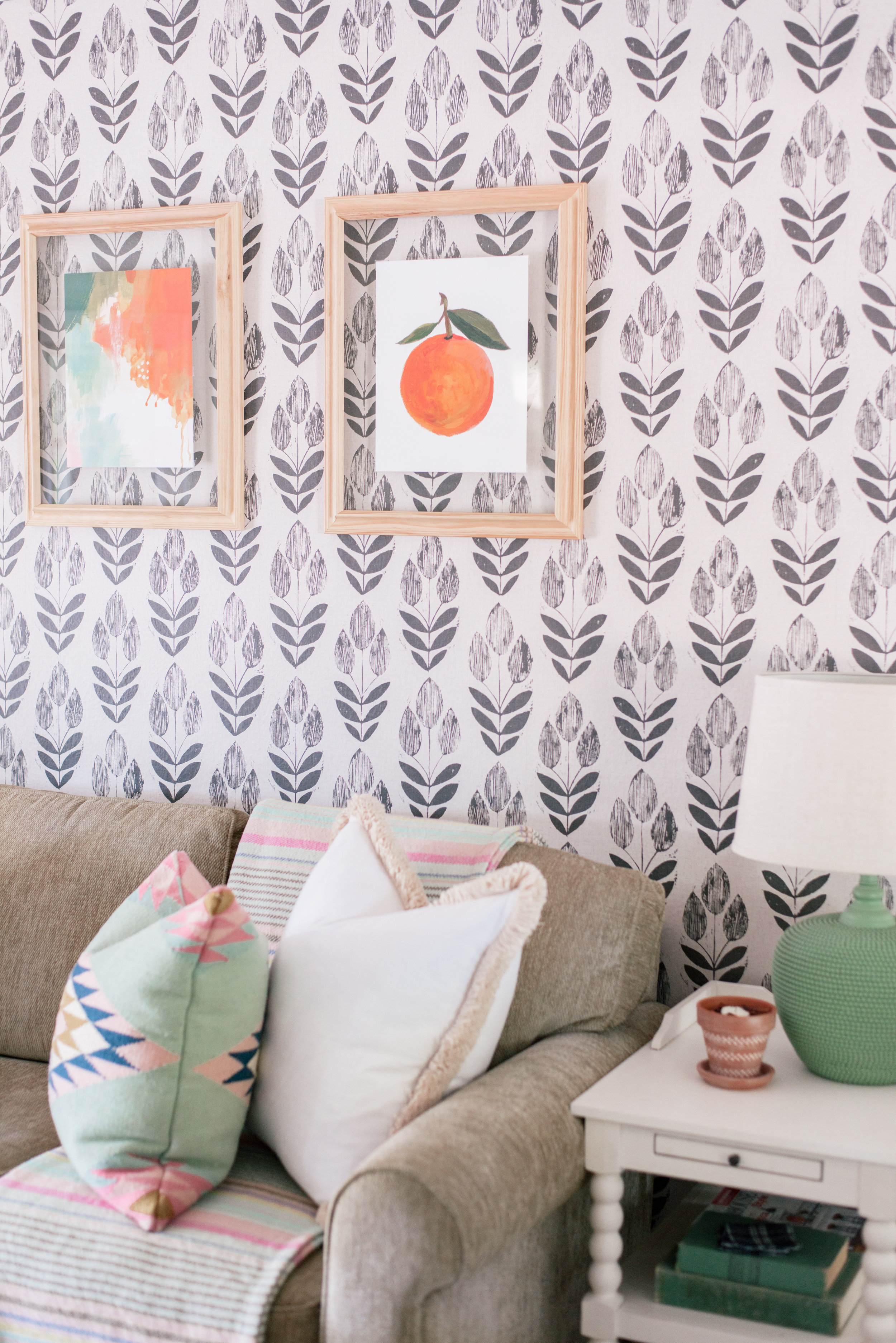 DIY Wood Floating Frames tutorial featured by top US home decor blog, Love + Specs