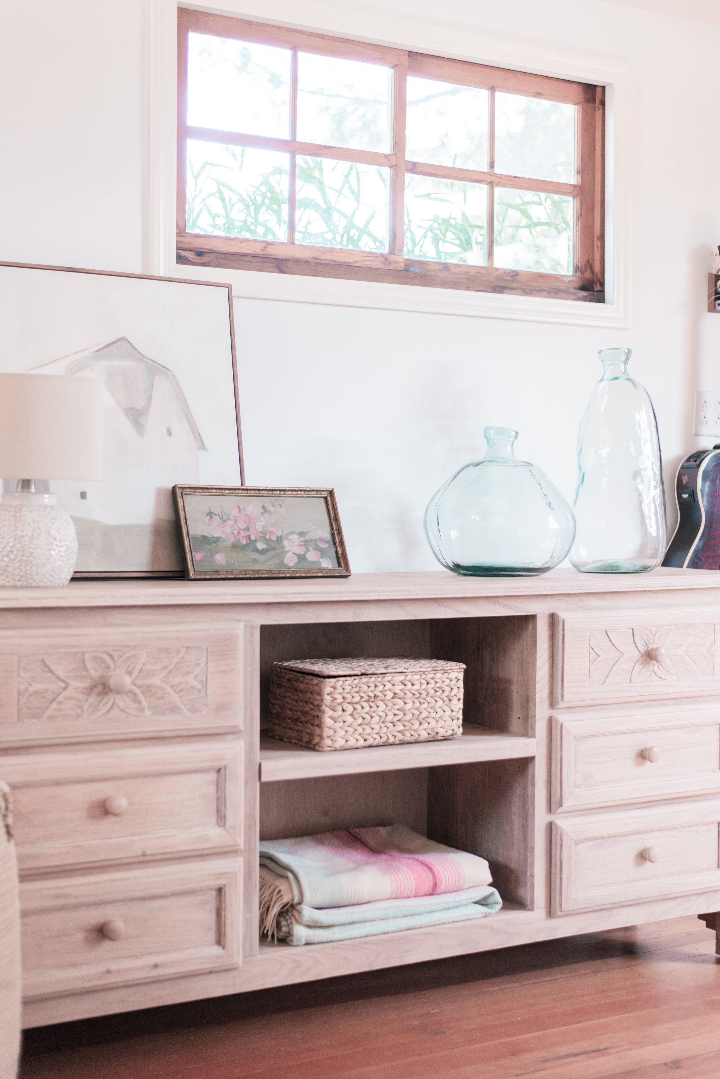 Pickled Wood Dresser Makeover featured by top US home decor blog, Love and Specs