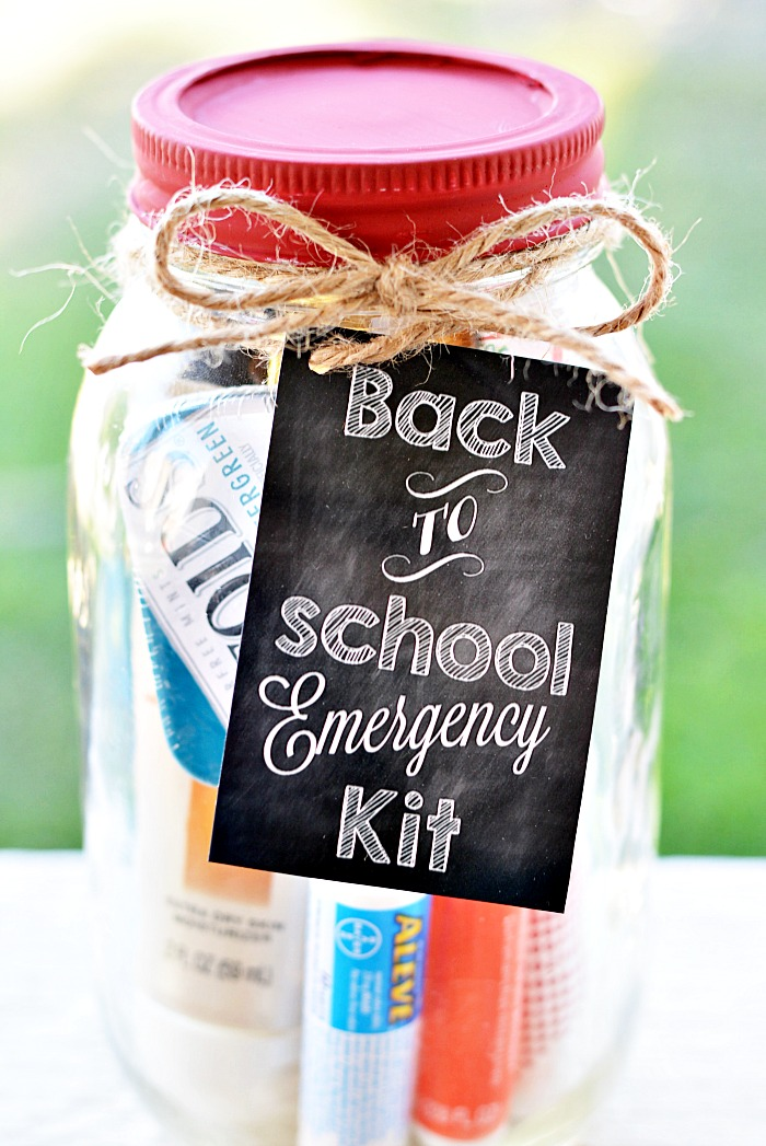 This emergency teacher kit is too cute for words! You can fill it with anything from school supplies to mints and hand sanitizer. Check out the full how-to on this gift  here .