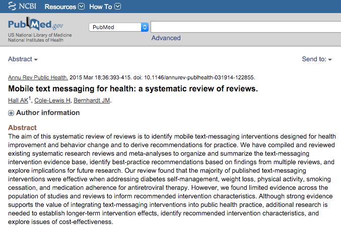 Mobile Text Messaging For Health Practitioners