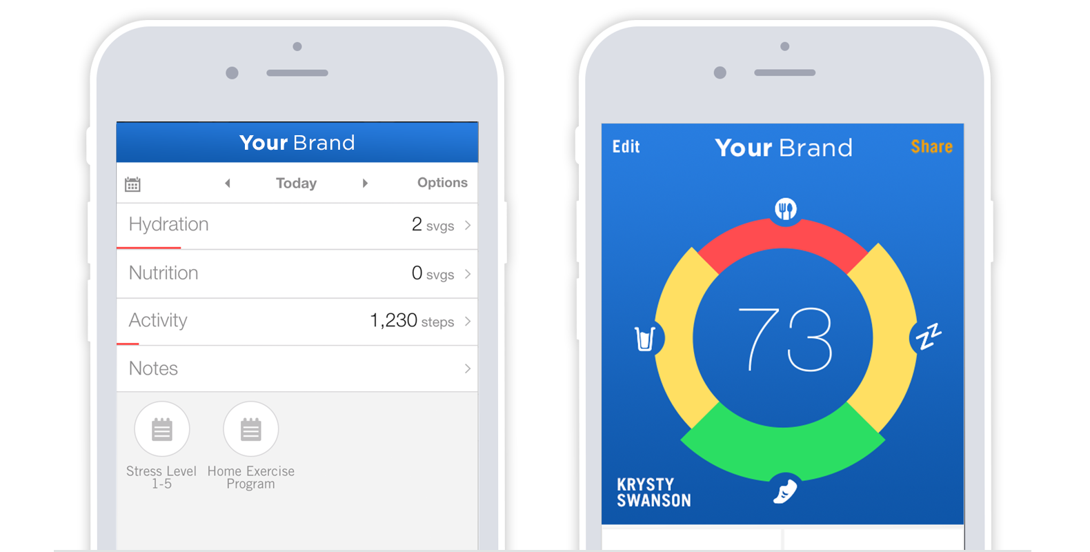 Co-Brand or White-Label Our Health Tracking App To Feature Your Brand To Fitness Clients
