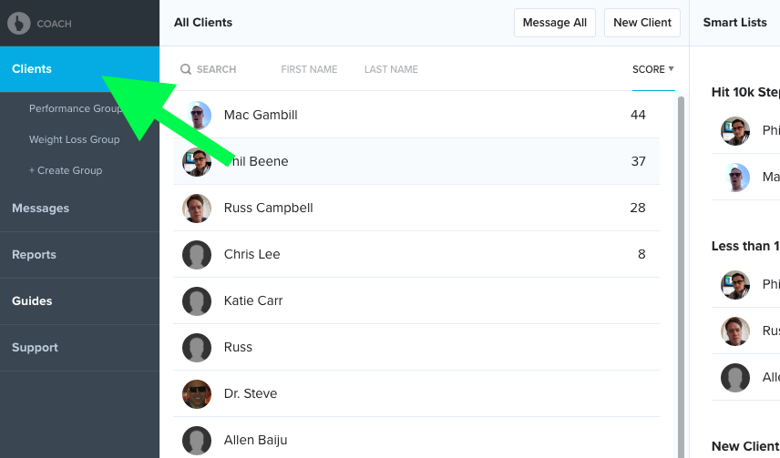 Simple Master Client List