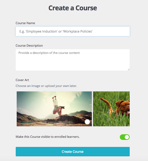 Creating our online course in wyzed