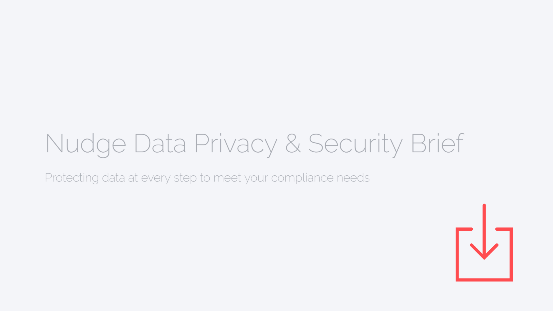 nudge data privacy and security brief