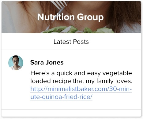 Nutrition Coaching Group Platform