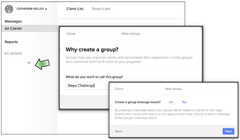 Creating Coaching Groups in Nudge Coach