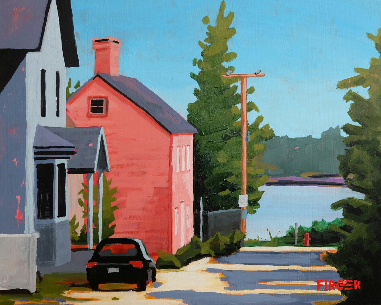 Late Summer Alley (Portsmouth) - 8 x 10, Acrylic on Panel (SOLD)