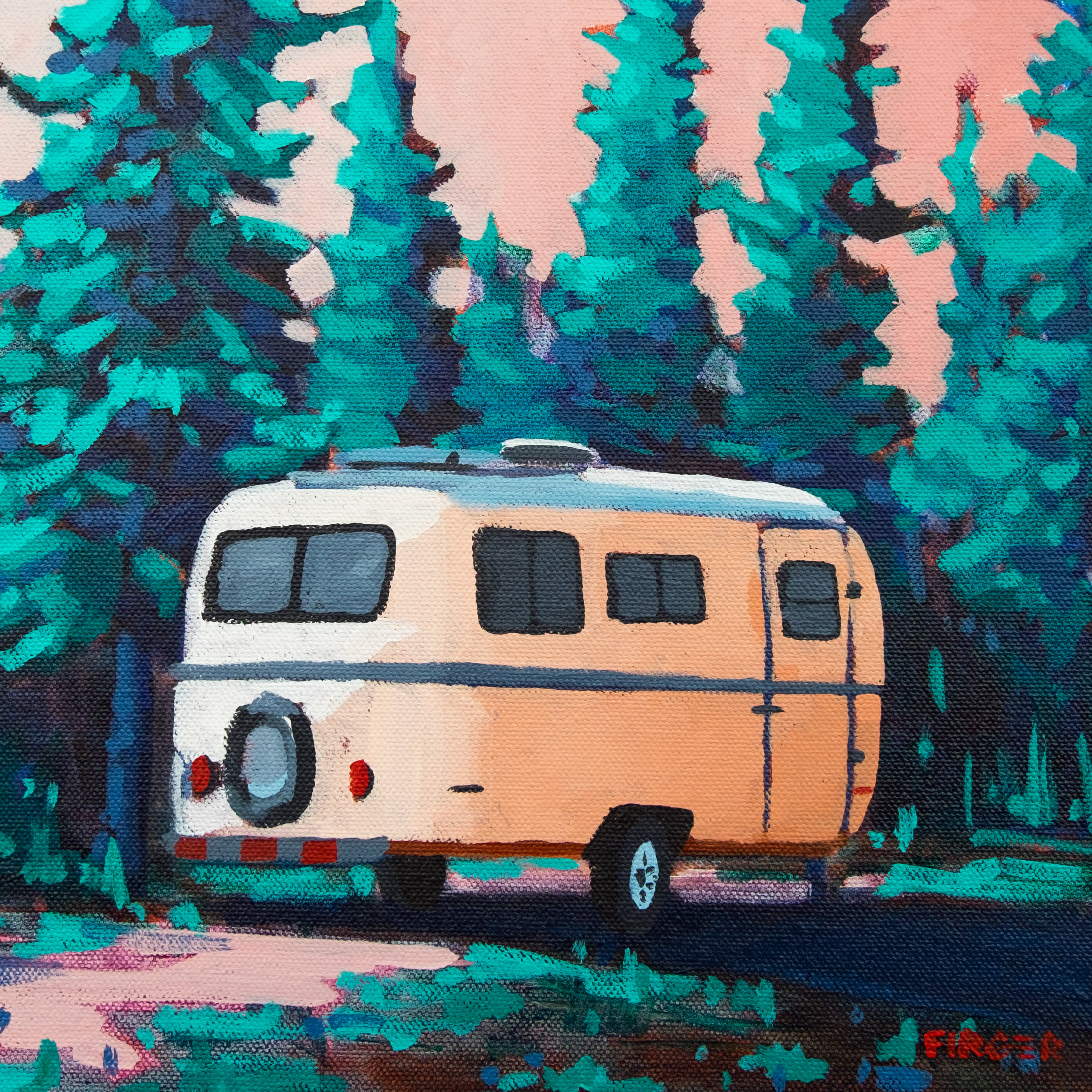 Roaming in the Rockies - 10 x 10, Acrylic on Canvas (SOLD)
