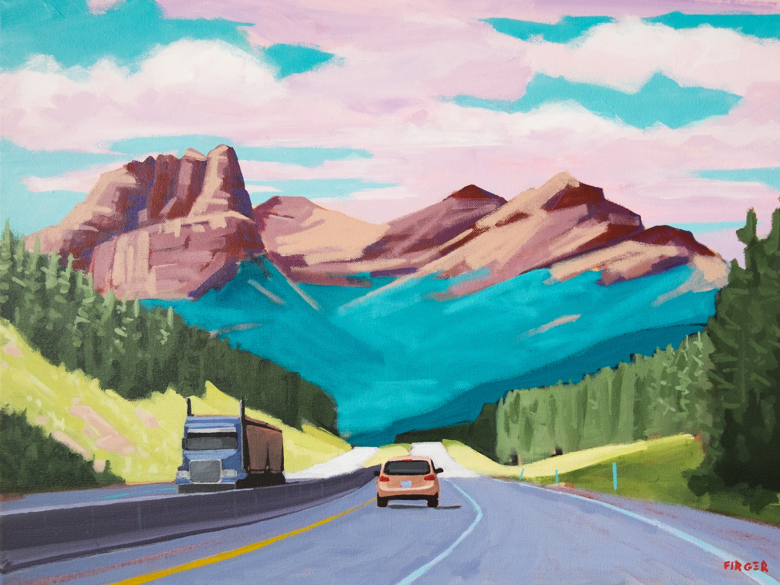 Road Trip - 18 x 24, Acrylic on Canvas (SOLD)