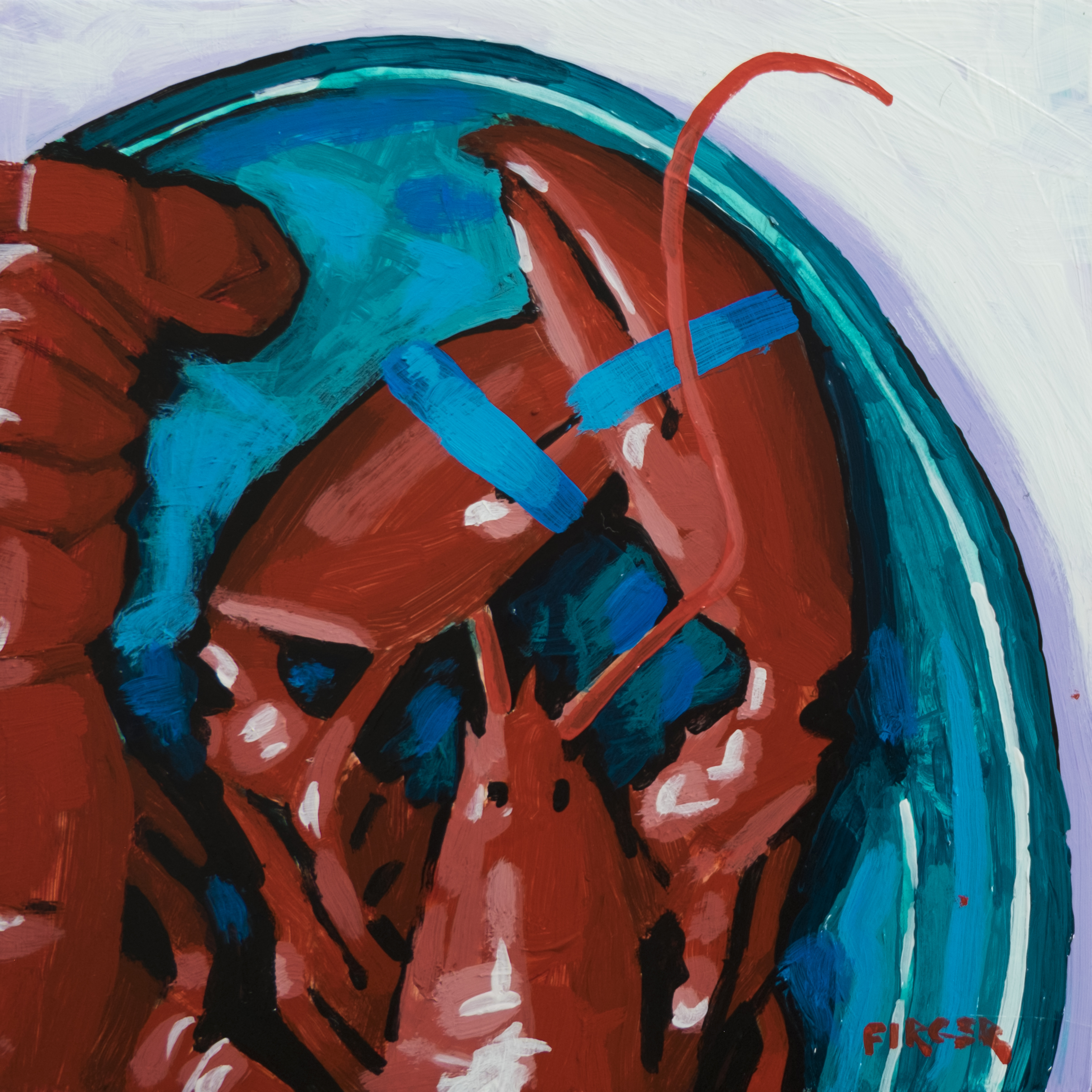 Dinner - 6 x 6, Acrylic on Panel (SOLD)