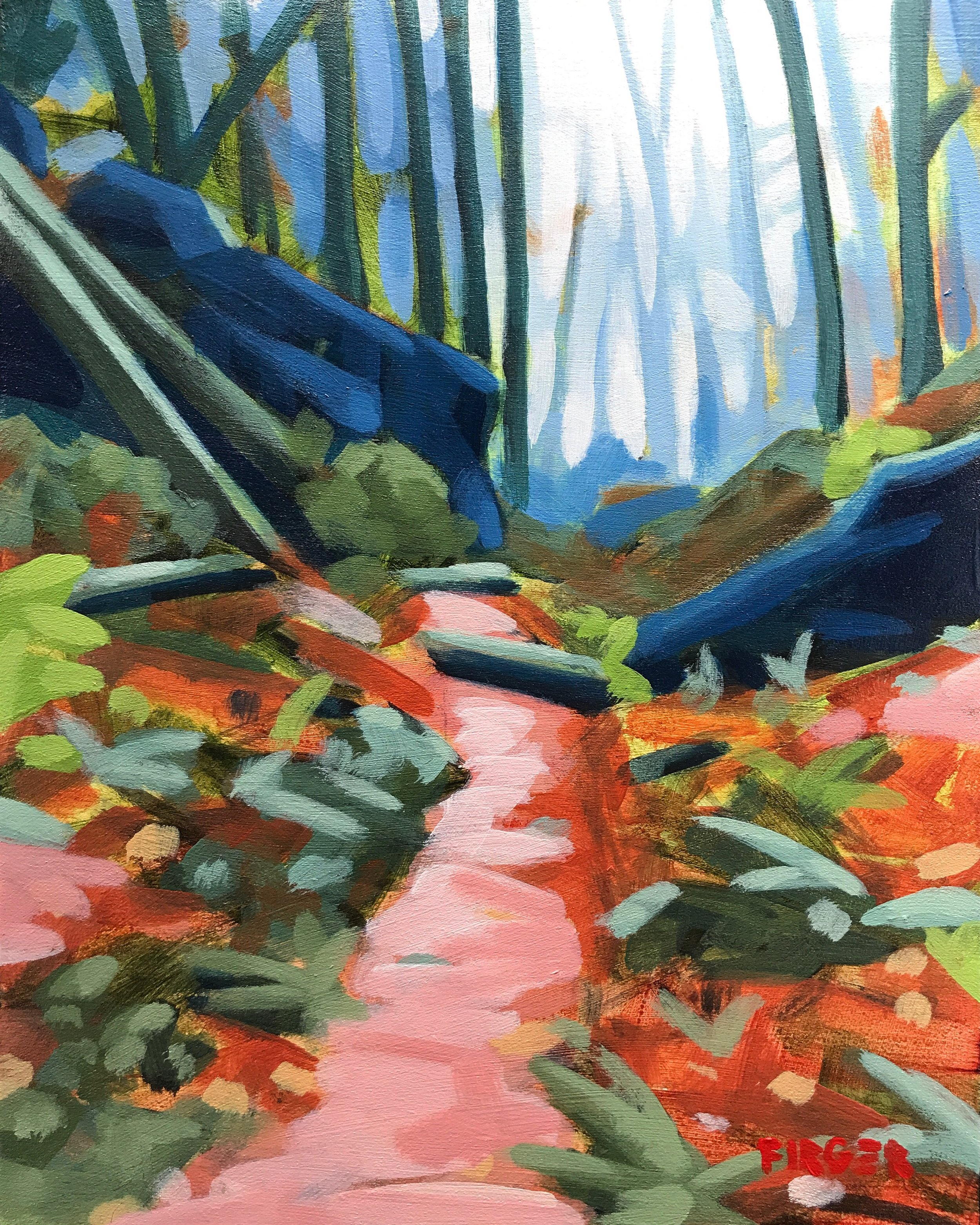 Green Mountain Trails - 8 x 10, Acrylic on Panel (SOLD)