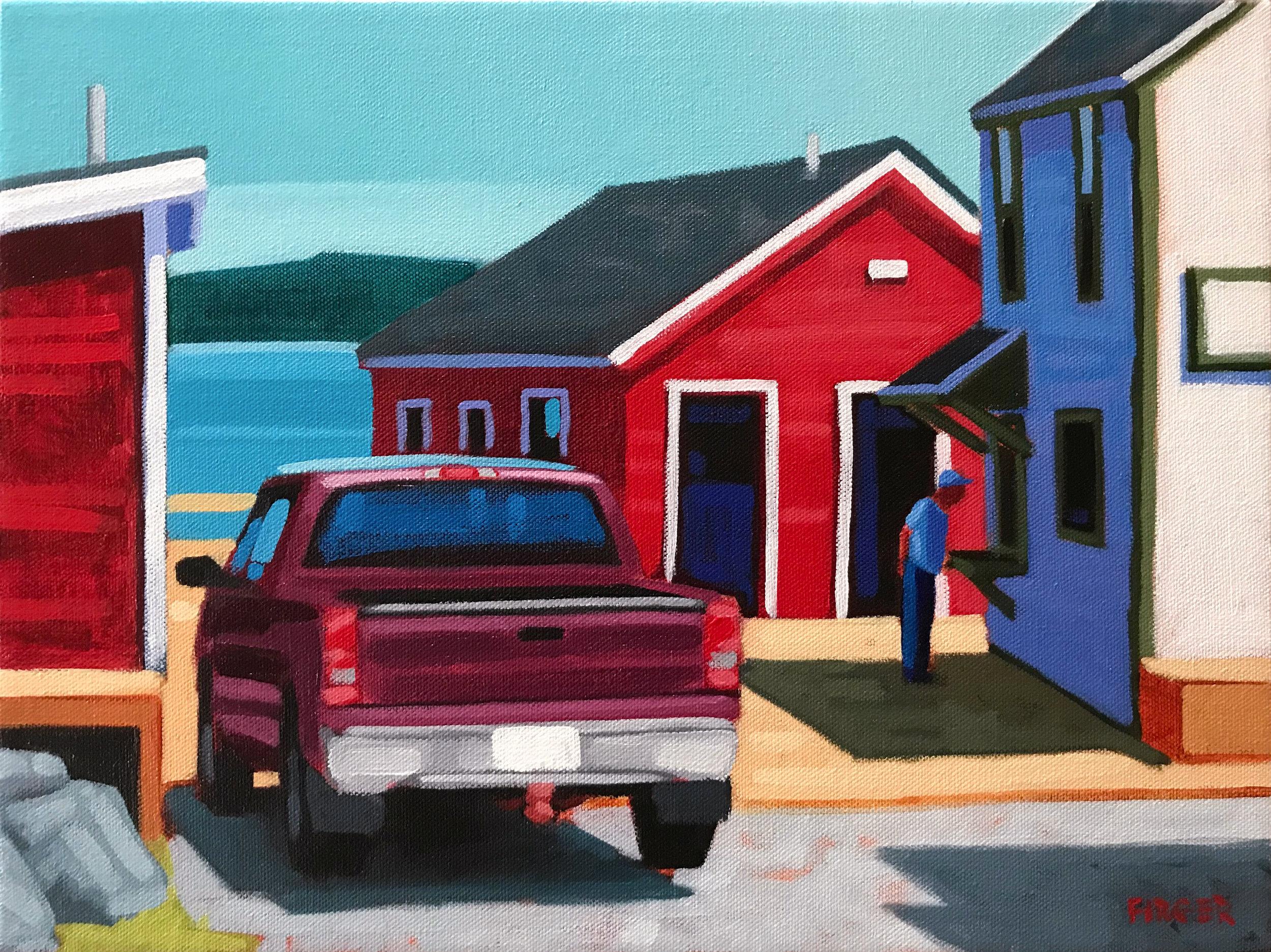 Market Price - 12 x 16, Acrylic on Canvas