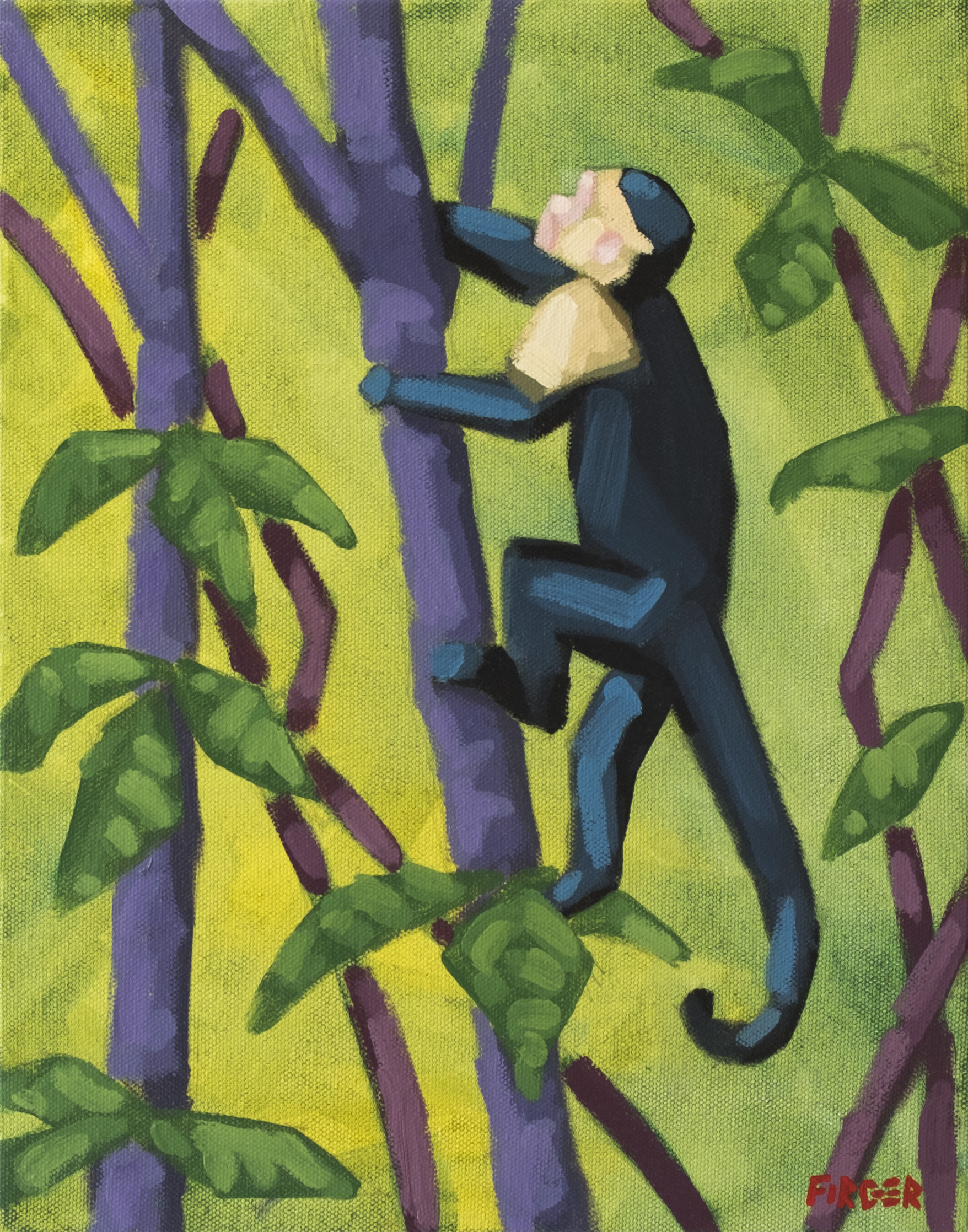 Jungle Climber I - 11 x 14, Acrylic on Canvas