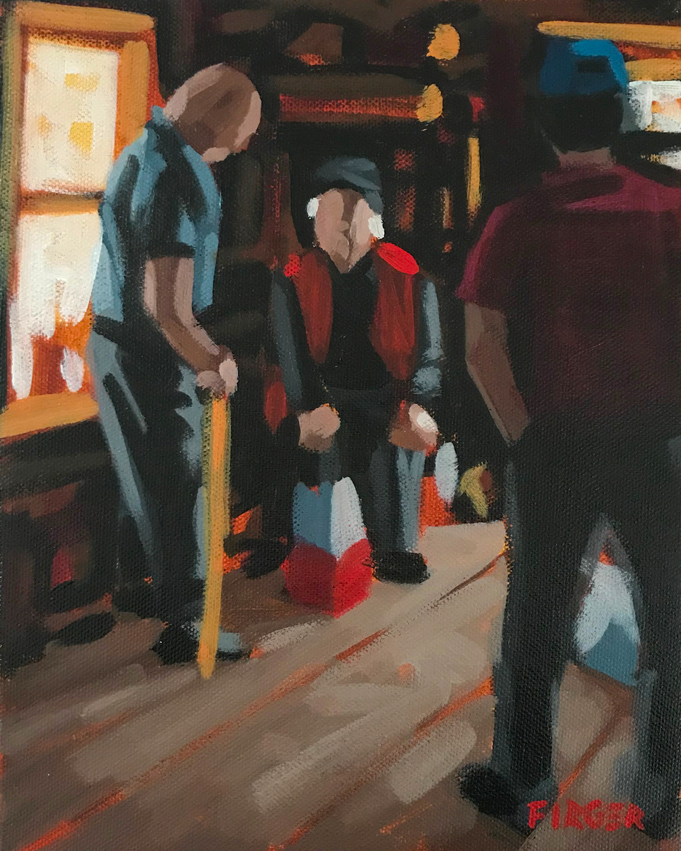 Fisherman's Story - 8 x 10, Acrylic on Canvas (SOLD)