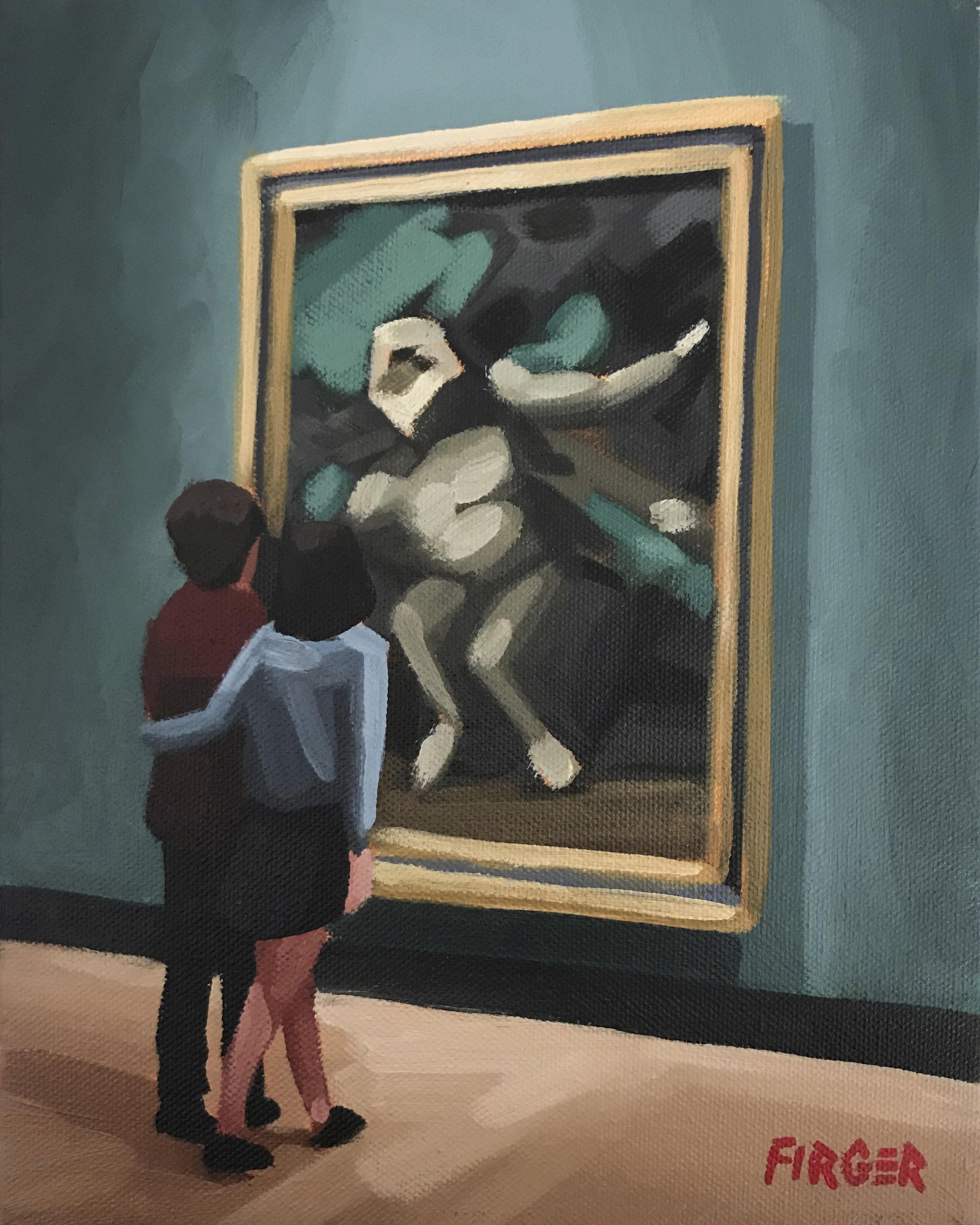 Art Lovers - 8 x 10, Acrylic on Canvas