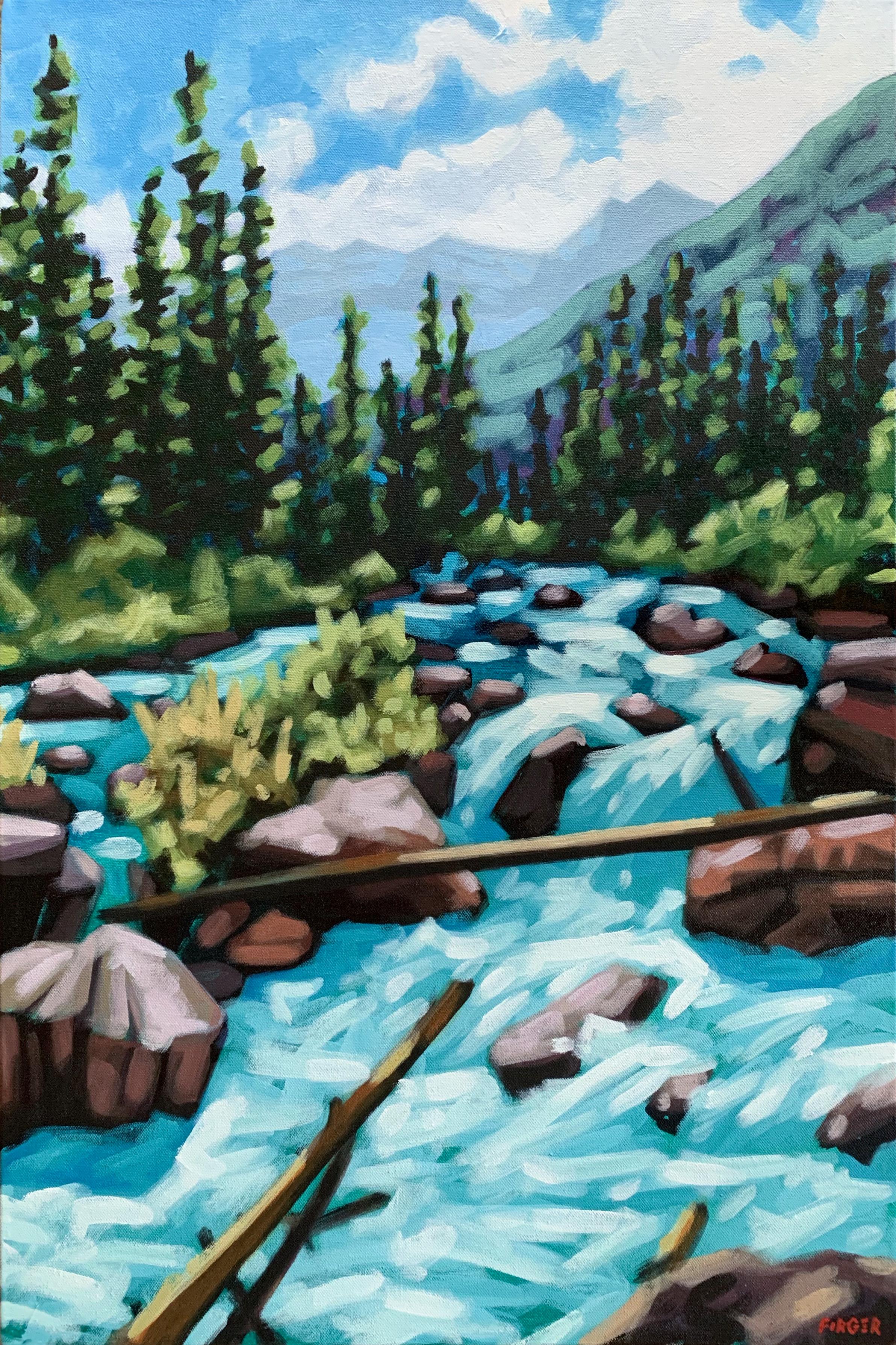 Spring Rapids - 20 x 30, Acrylic on Canvas