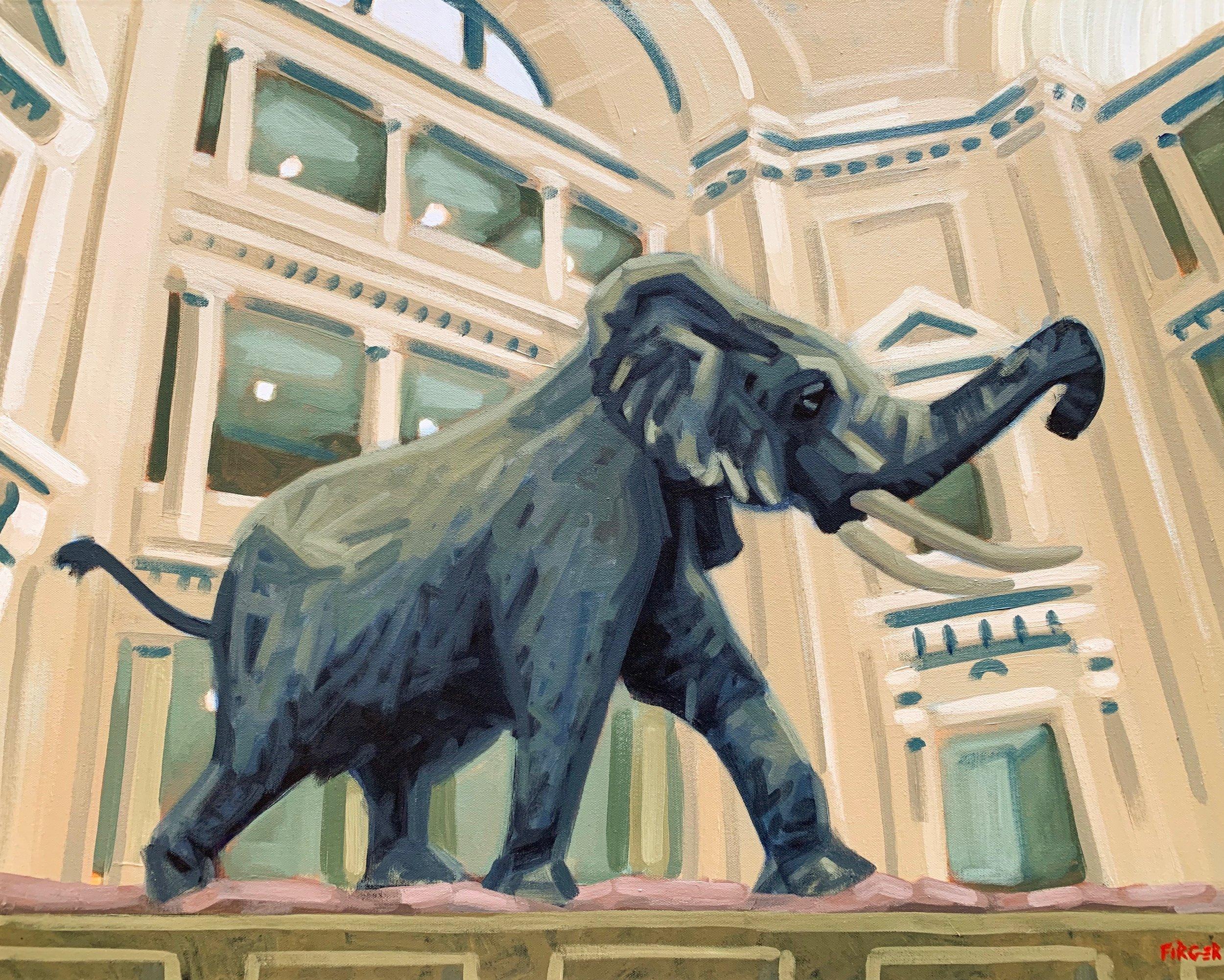 Smithsonian - 24 x 30, Acrylic on Canvas