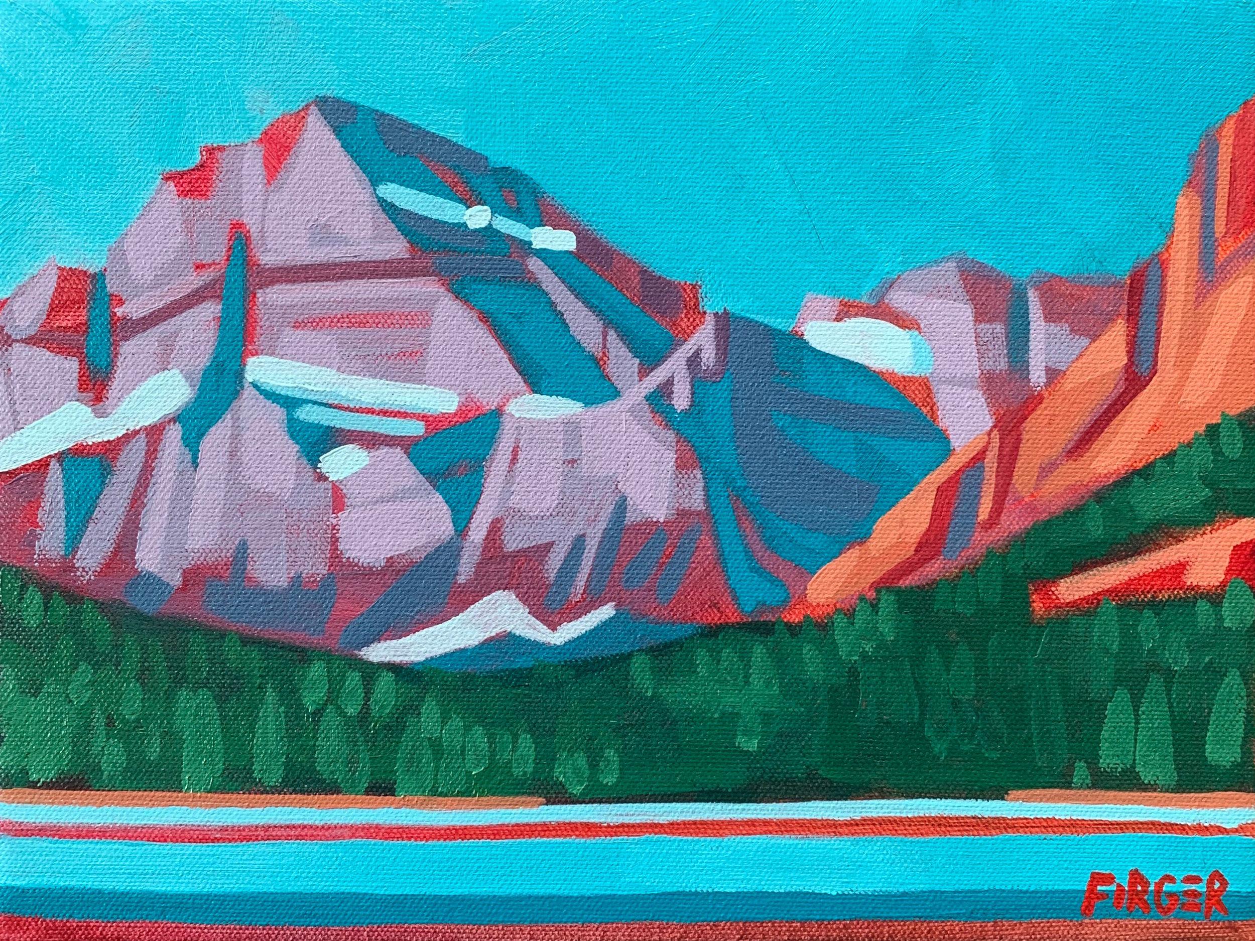 Mountain Colors - 9 x 12, Acrylic on Canvas