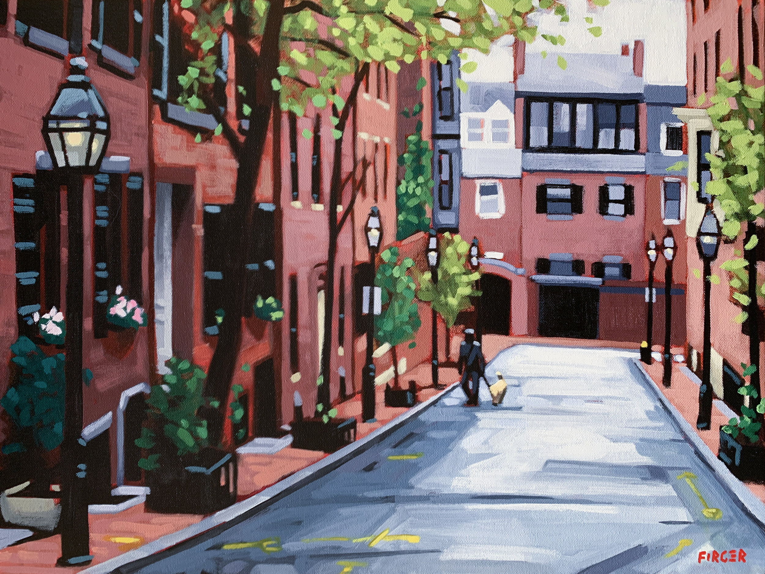 Quiet Morning, Beacon Hill - 18 x 24, Acrylic on Canvas (SOLD)