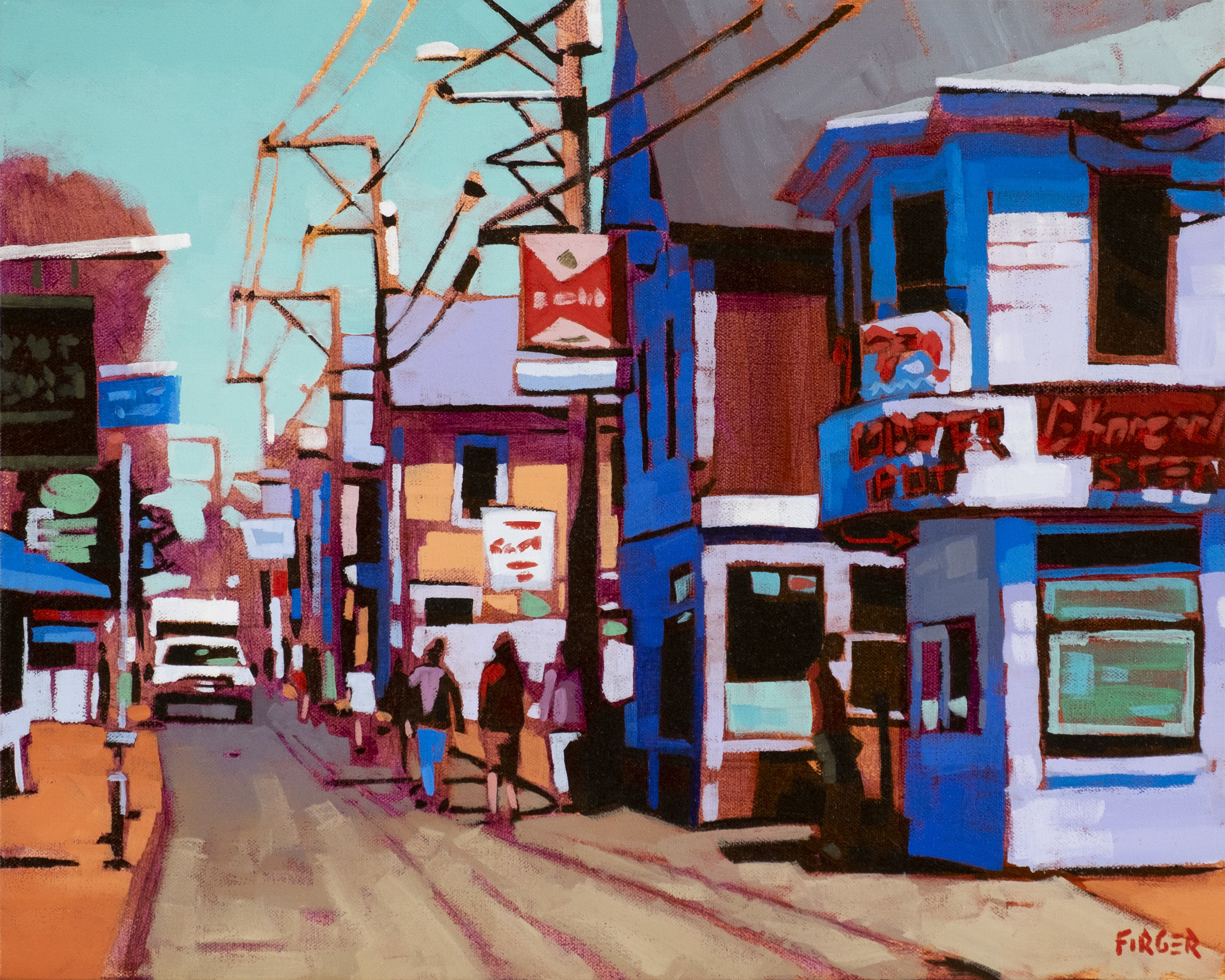 Commercial Street Colors - 16 x 20, Acrylic on Canvas