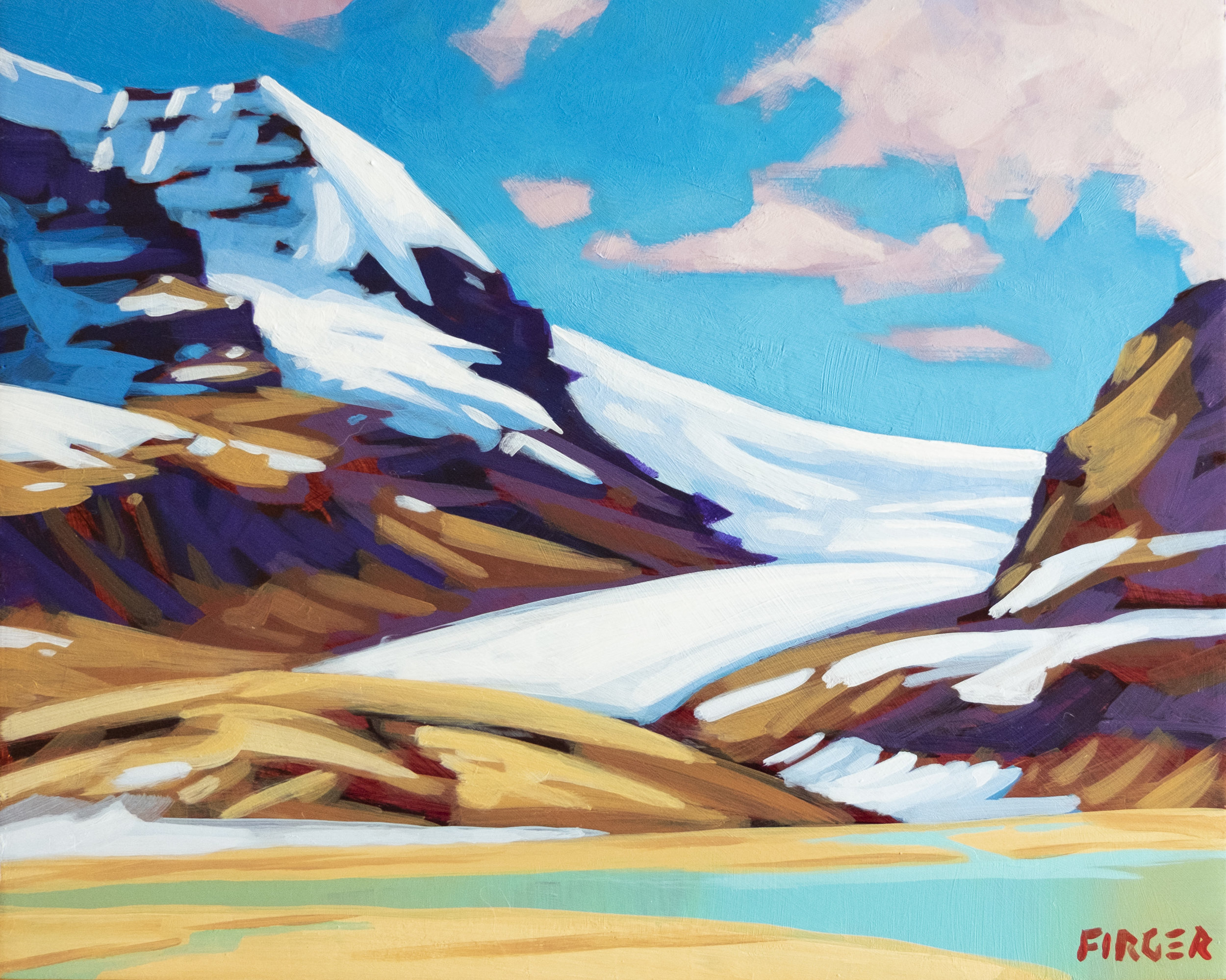 The Icefield - 8 x 10, Acrylic on Panel