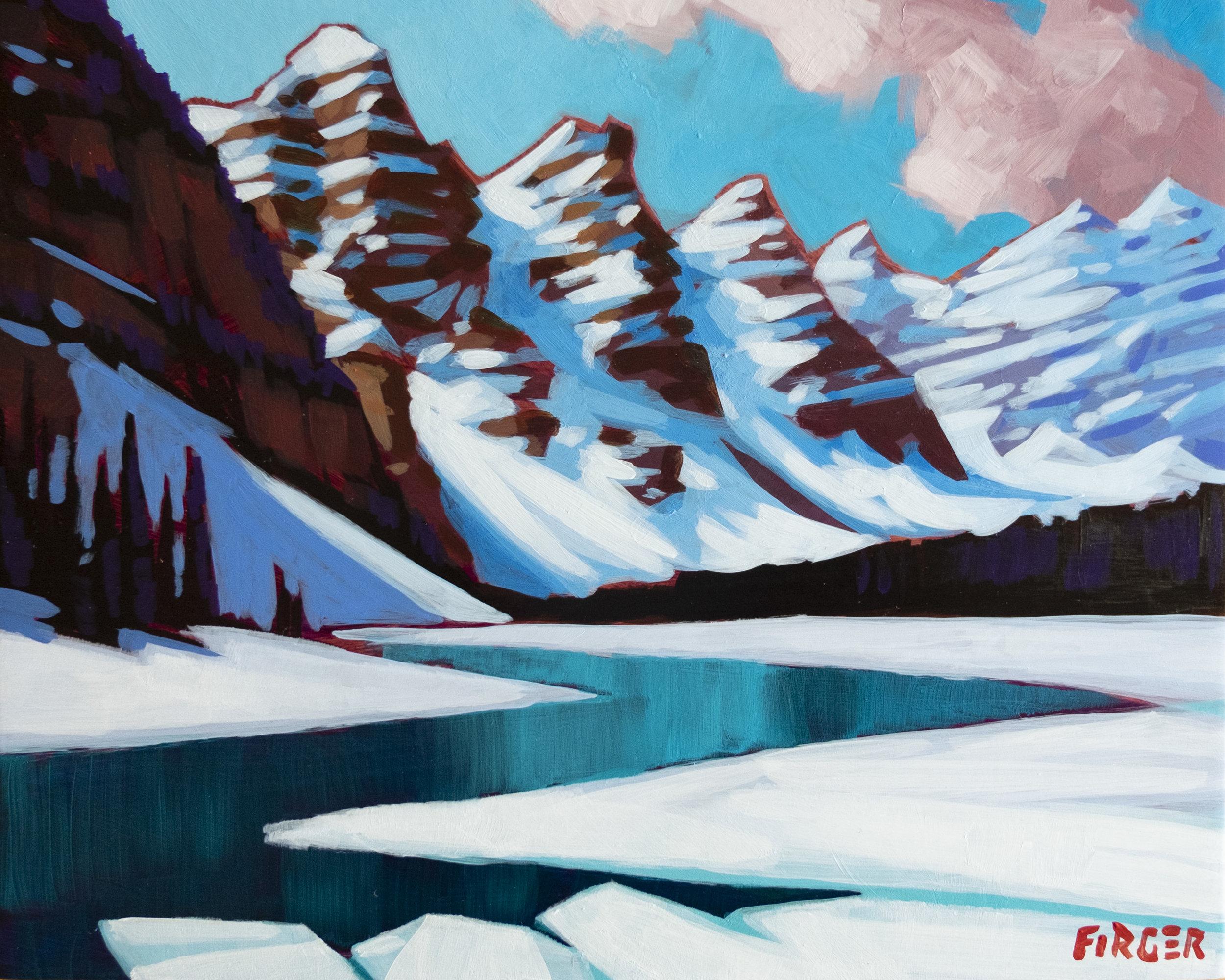 Mountain Geometry - 8 x 10, Acrylic on Panel
